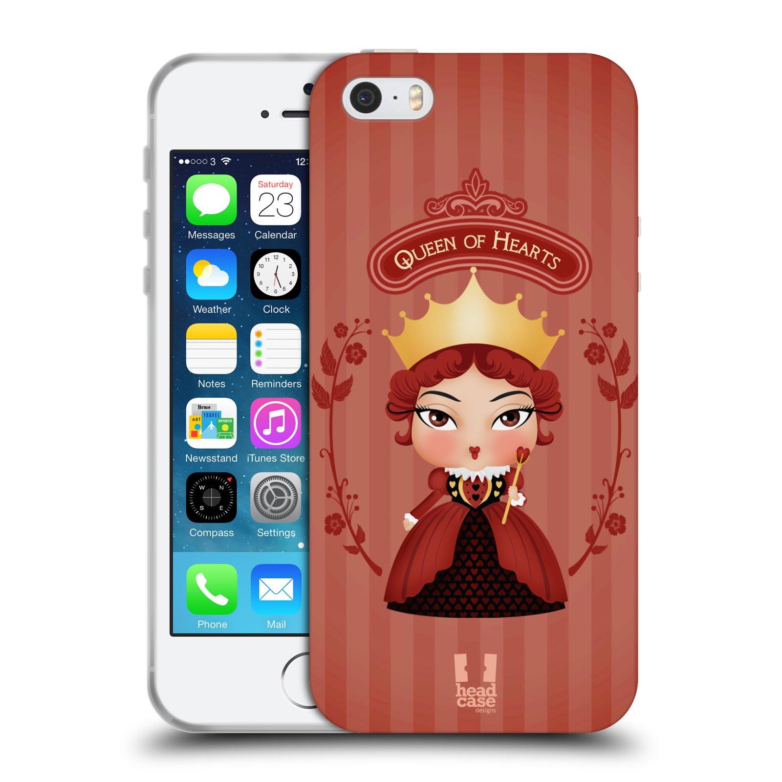 HEAD CASE silikonový obal na mobil Apple Iphone 5/5S vzor Alenka v říši divů královna