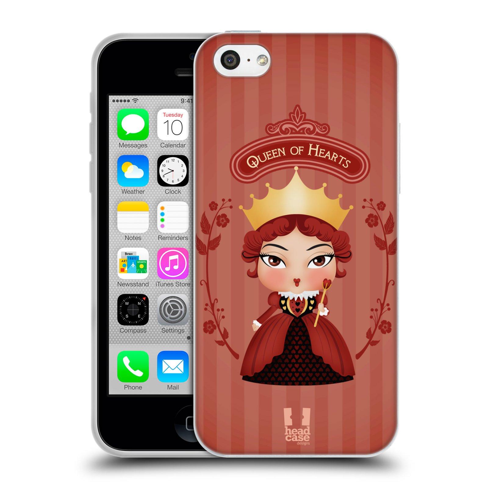 HEAD CASE silikonový obal na mobil Apple Iphone 5C vzor Alenka v říši divů královna