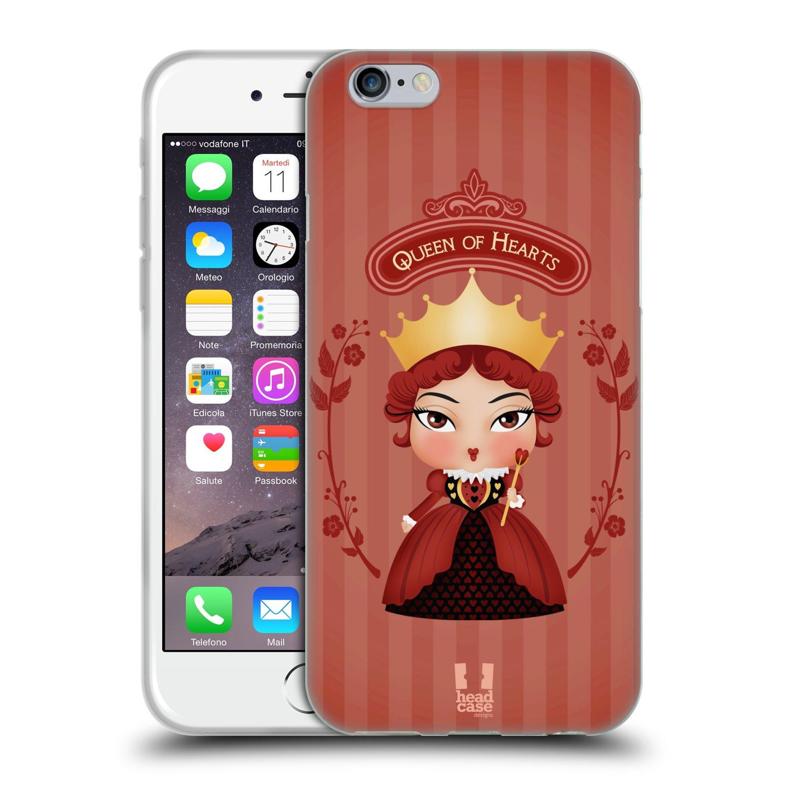 HEAD CASE silikonový obal na mobil Apple Iphone 6/6S vzor Alenka v říši divů královna
