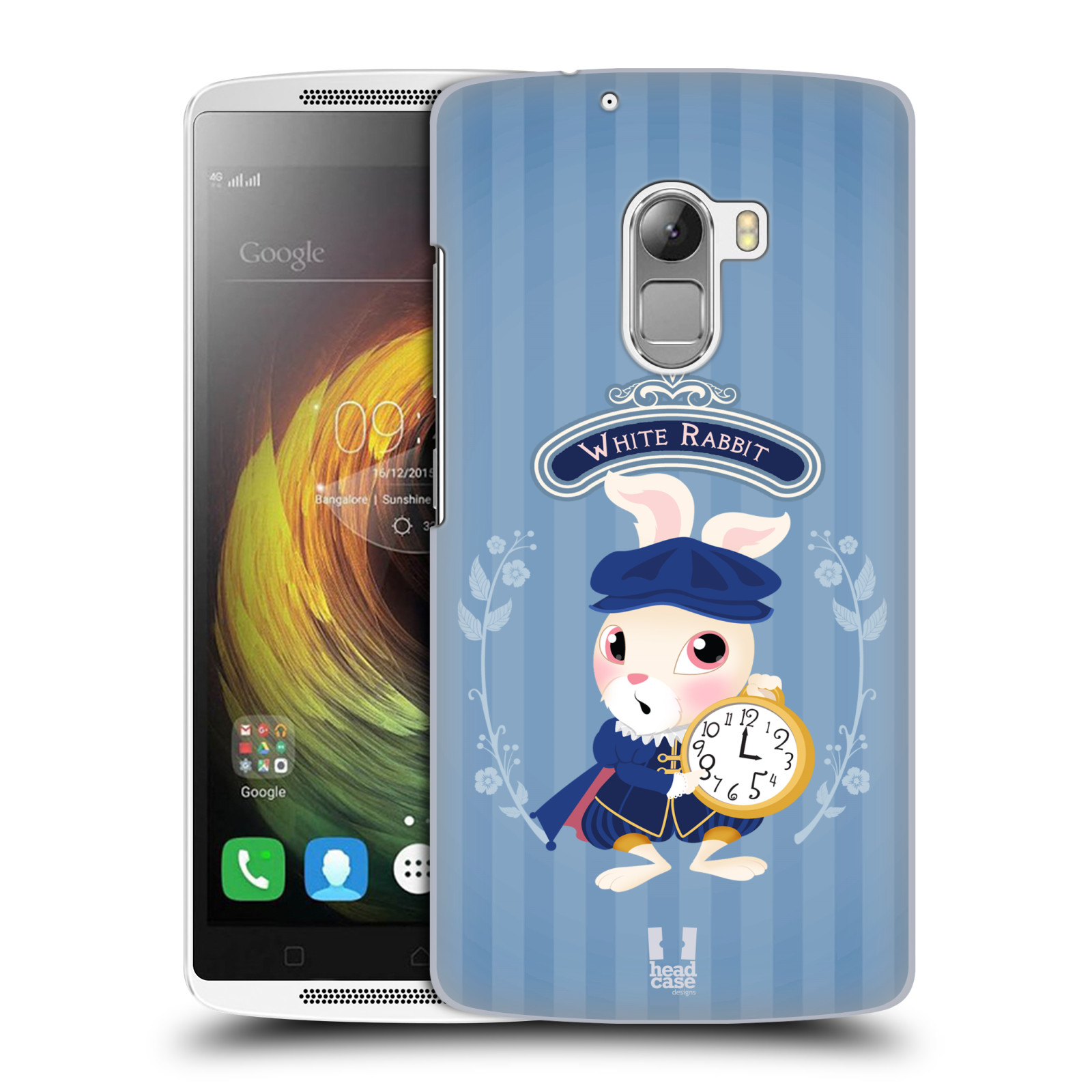 HEAD CASE pevný plastový obal na mobil LENOVO A7010 / A7010 DUAL / K4 Note / Vibe X3 lite vzor Alenka v říši divů králíček