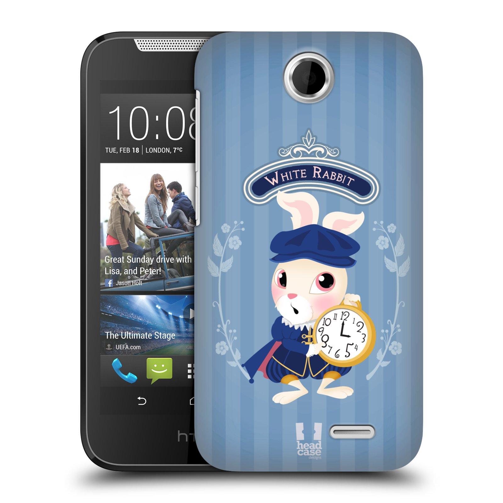 HEAD CASE plastový obal na mobil HTC Desire 310 vzor Alenka v říši divů králíček