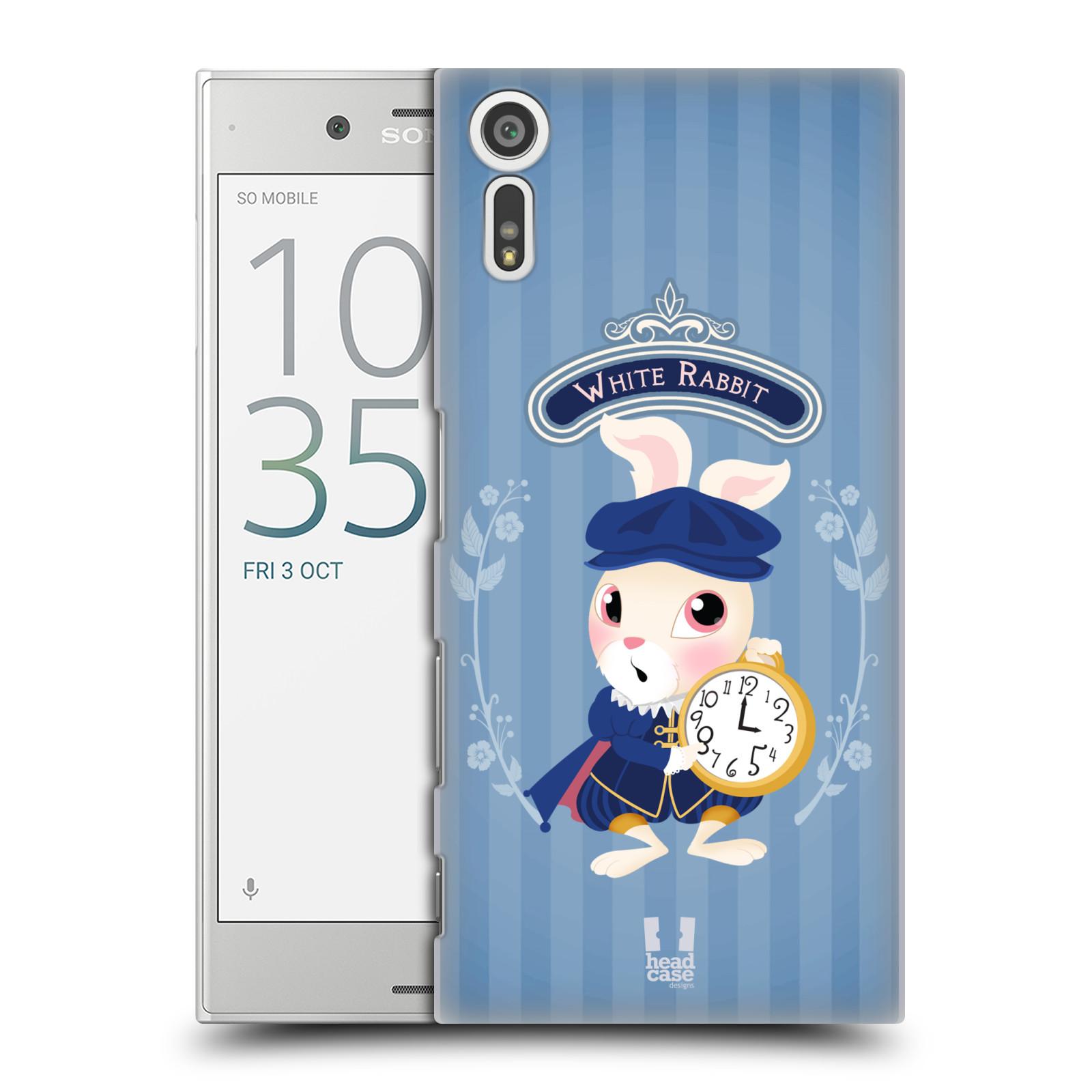 HEAD CASE plastový obal na mobil Sony Xperia XZ vzor Alenka v říši divů králíček
