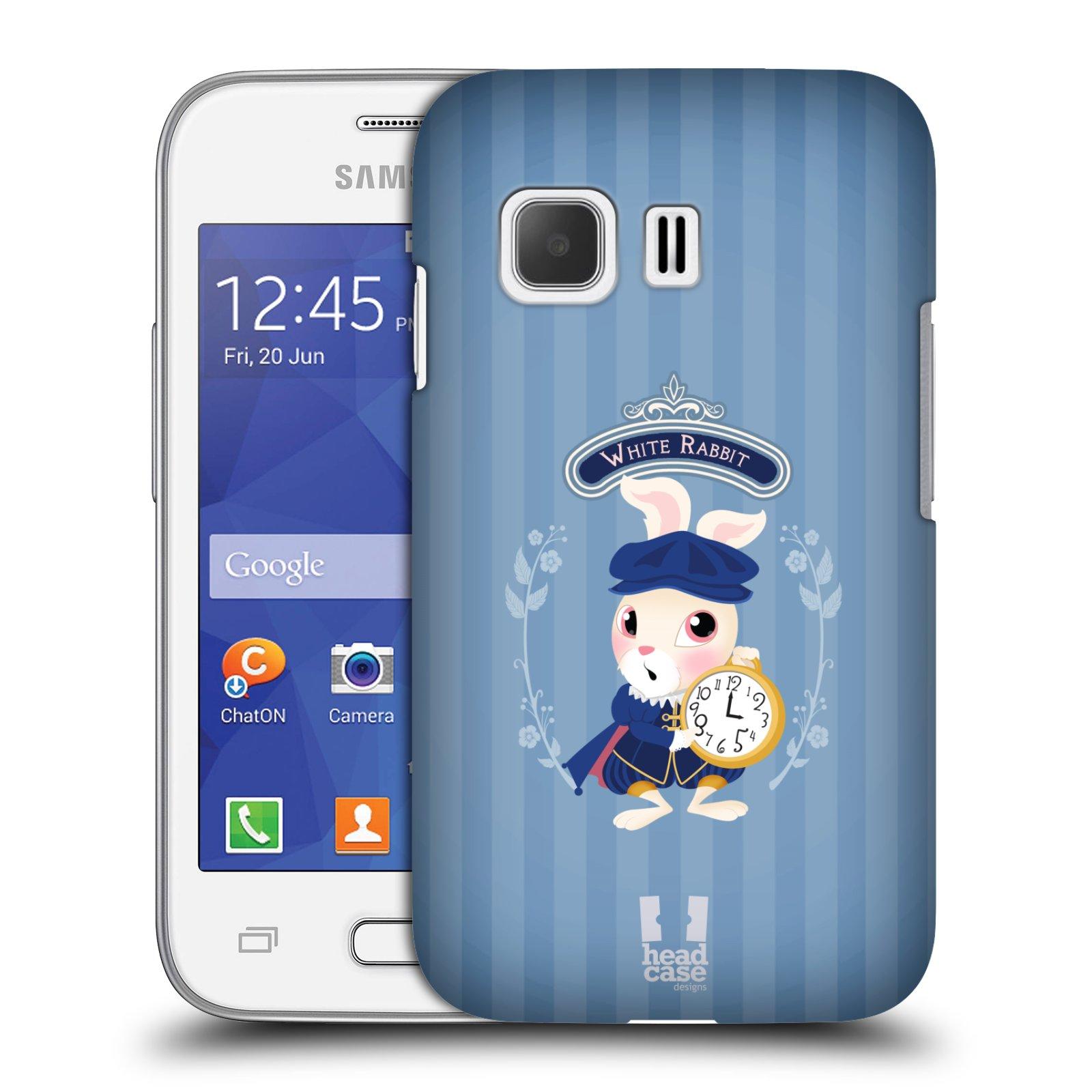 HEAD CASE plastový obal na mobil SAMSUNG Galaxy Young 2 (G130) vzor Alenka v říši divů králíček
