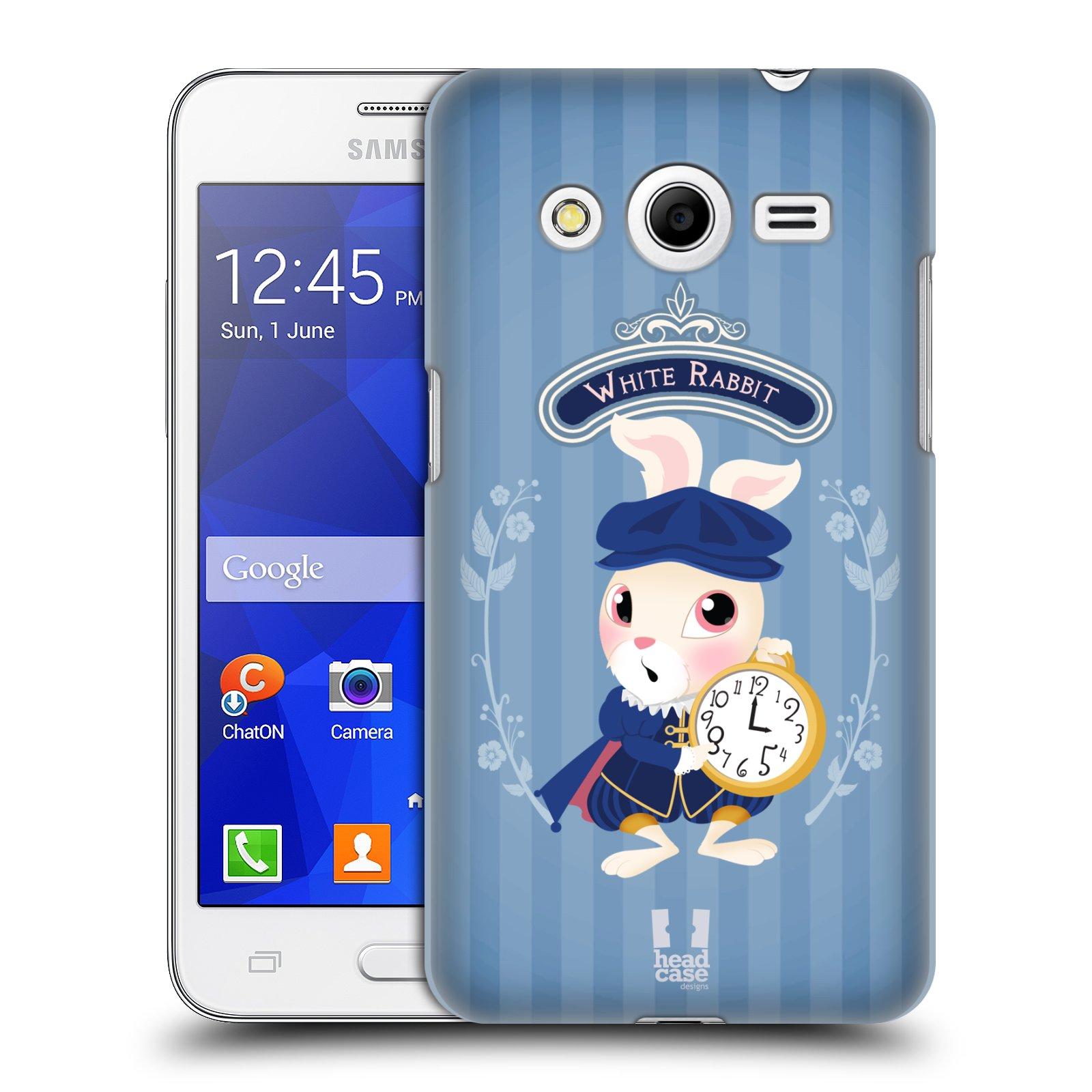 HEAD CASE plastový obal na mobil SAMSUNG GALAXY Core 2 (G355H) vzor Alenka v říši divů králíček