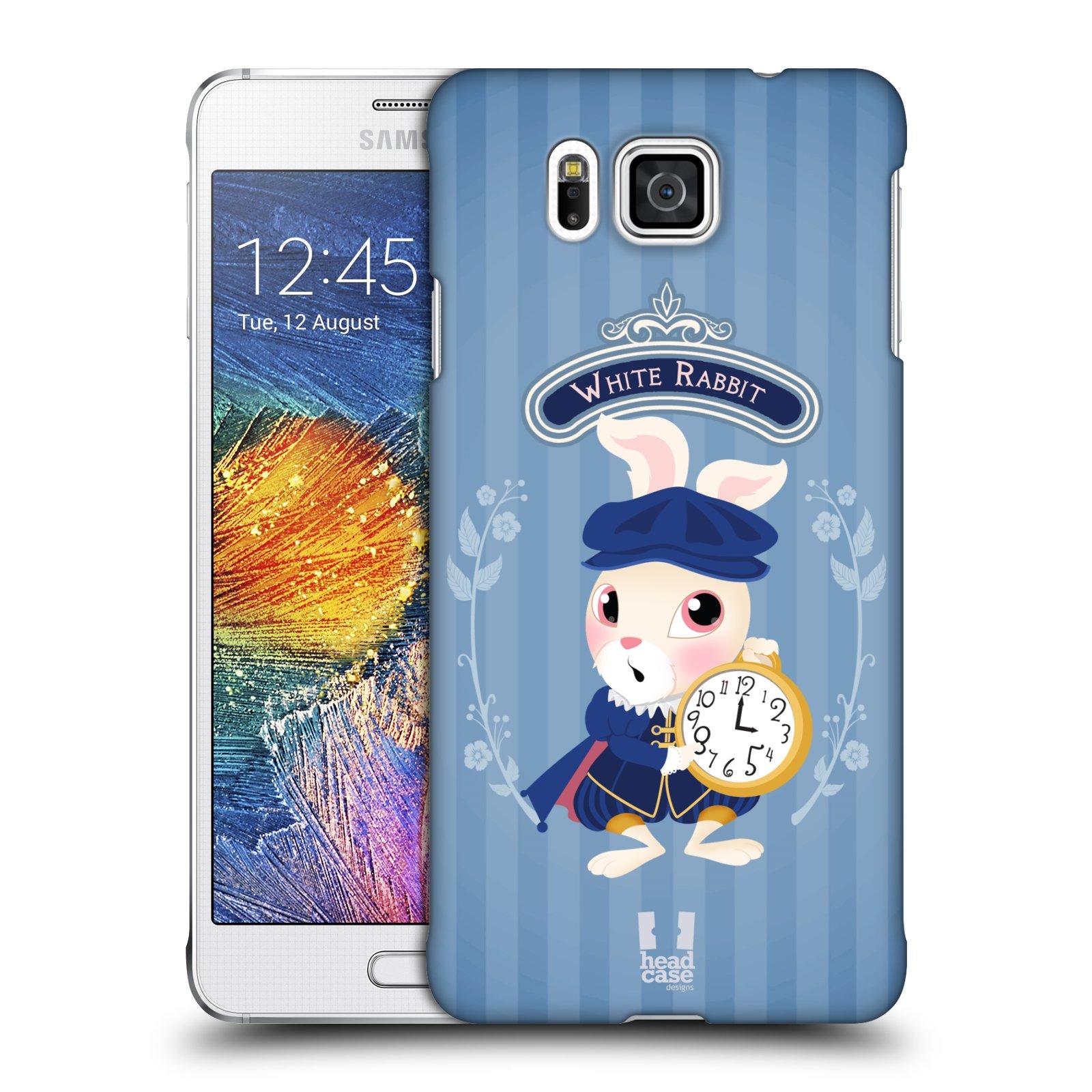 HEAD CASE plastový obal na mobil SAMSUNG Galaxy Alpha (G850) vzor Alenka v říši divů králíček