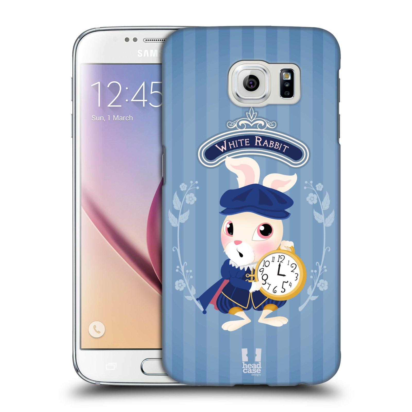 HEAD CASE plastový obal na mobil SAMSUNG Galaxy S6 (G9200, G920F) vzor Alenka v říši divů králíček