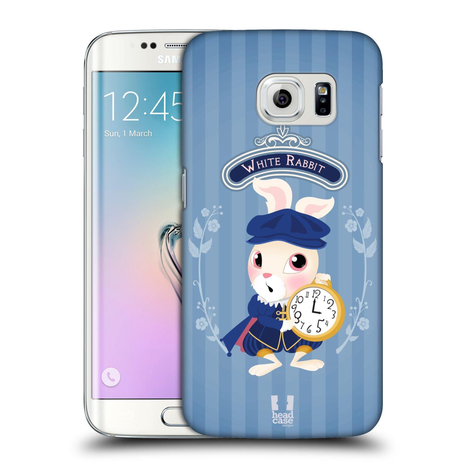 HEAD CASE plastový obal na mobil SAMSUNG Galaxy S6 EDGE (G9250, G925, G925F) vzor Alenka v říši divů králíček