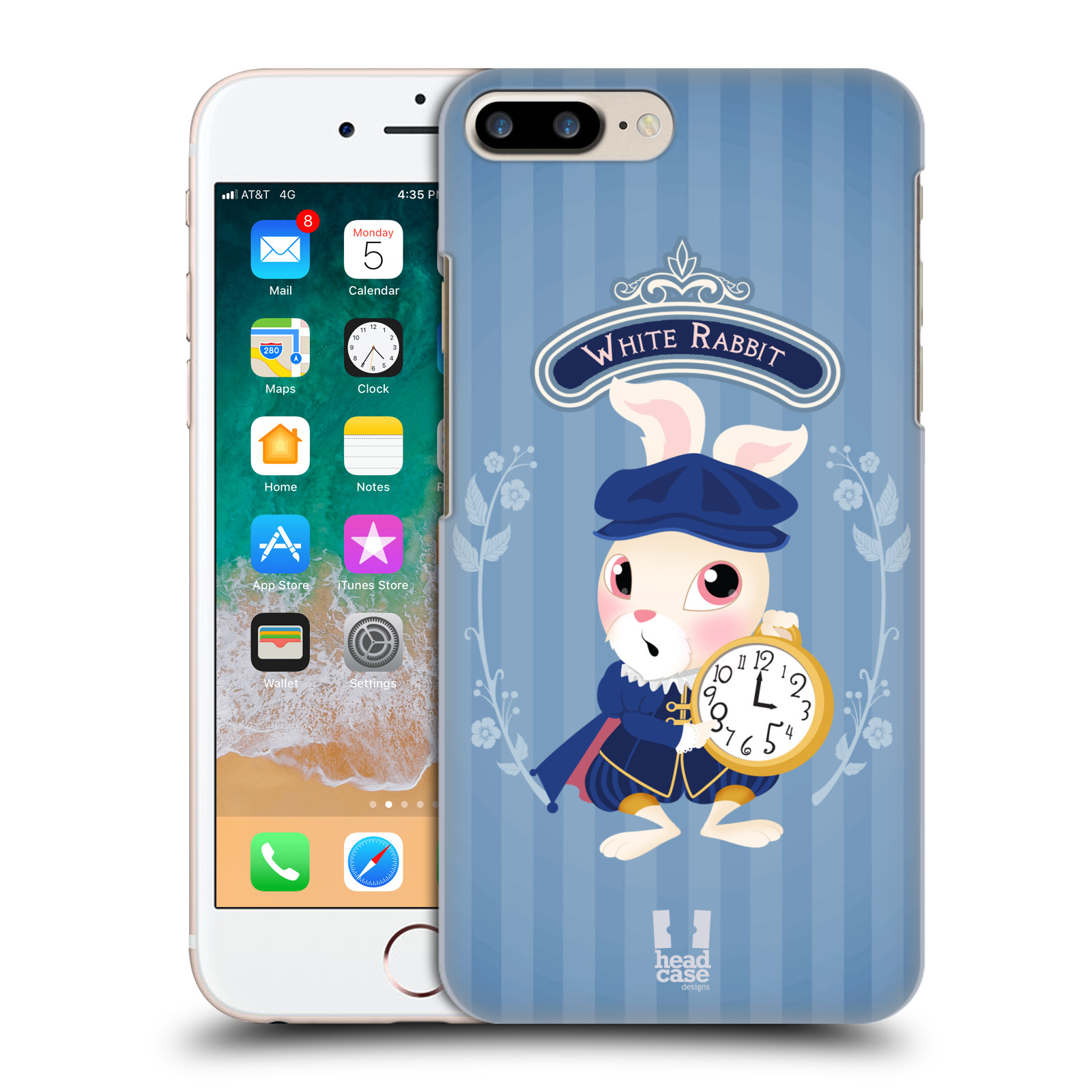 HEAD CASE plastový obal na mobil Apple Iphone 7 PLUS vzor Alenka v říši divů králíček