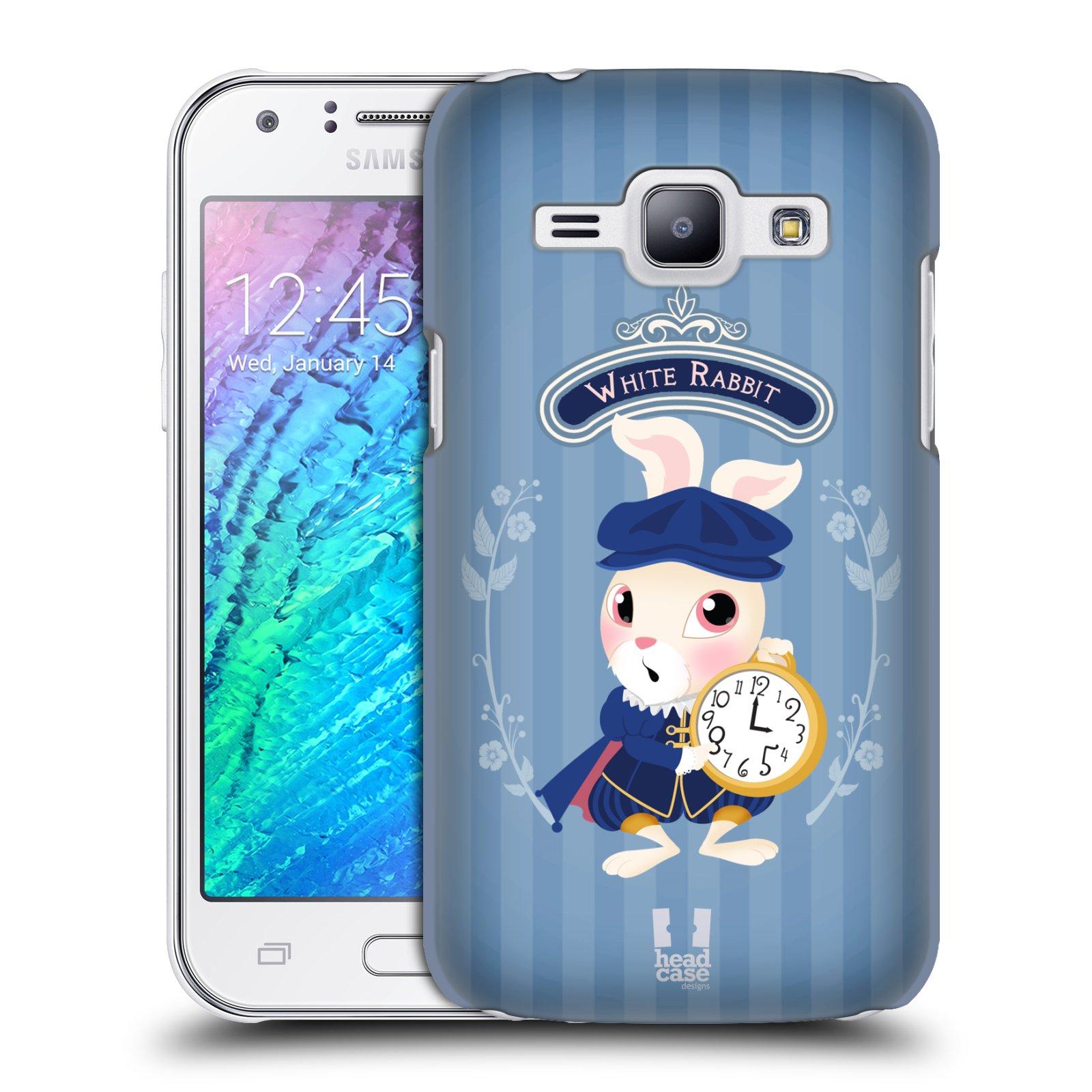 HEAD CASE plastový obal na mobil SAMSUNG Galaxy J1, J100 vzor Alenka v říši divů králíček