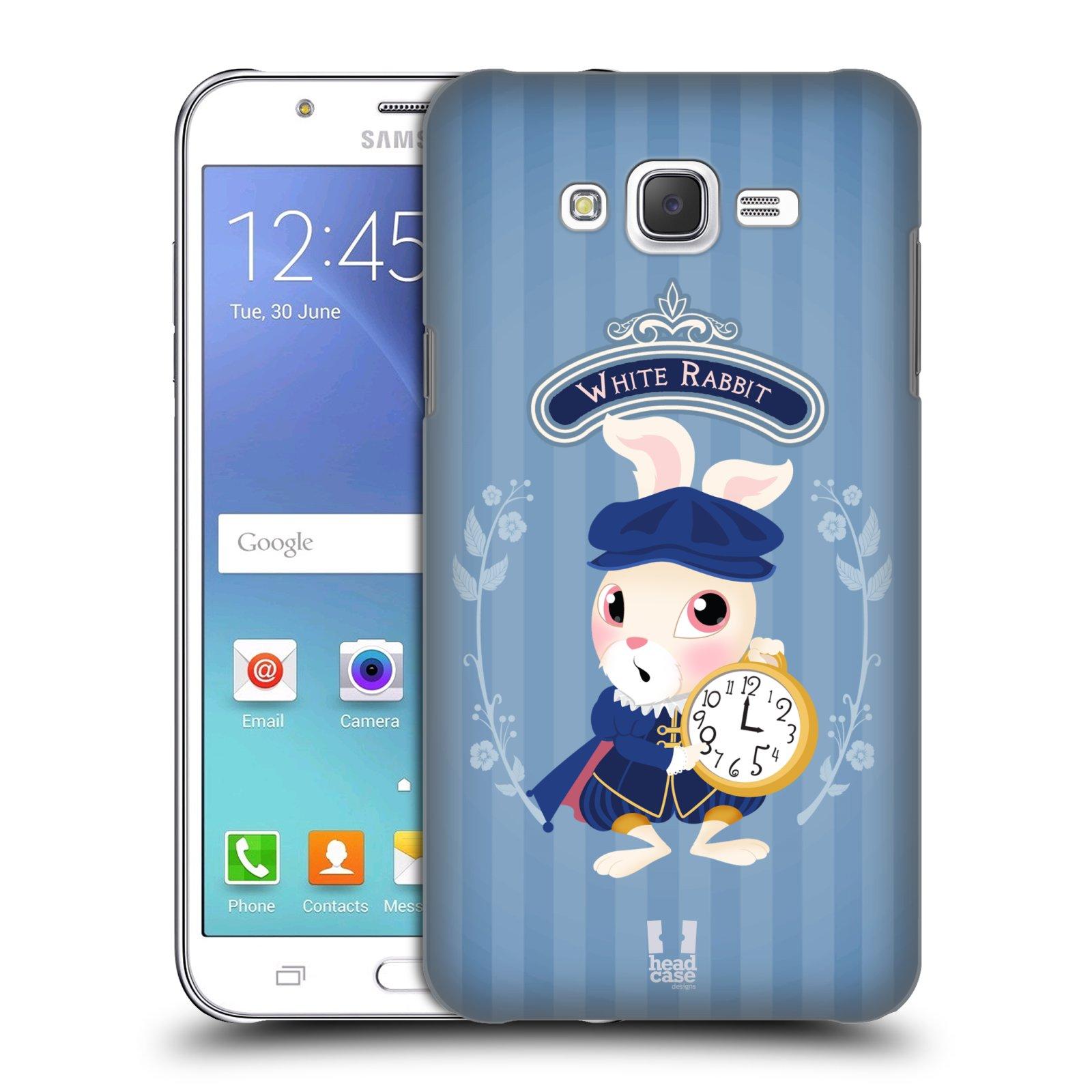 HEAD CASE plastový obal na mobil SAMSUNG Galaxy J7, J700 vzor Alenka v říši divů králíček