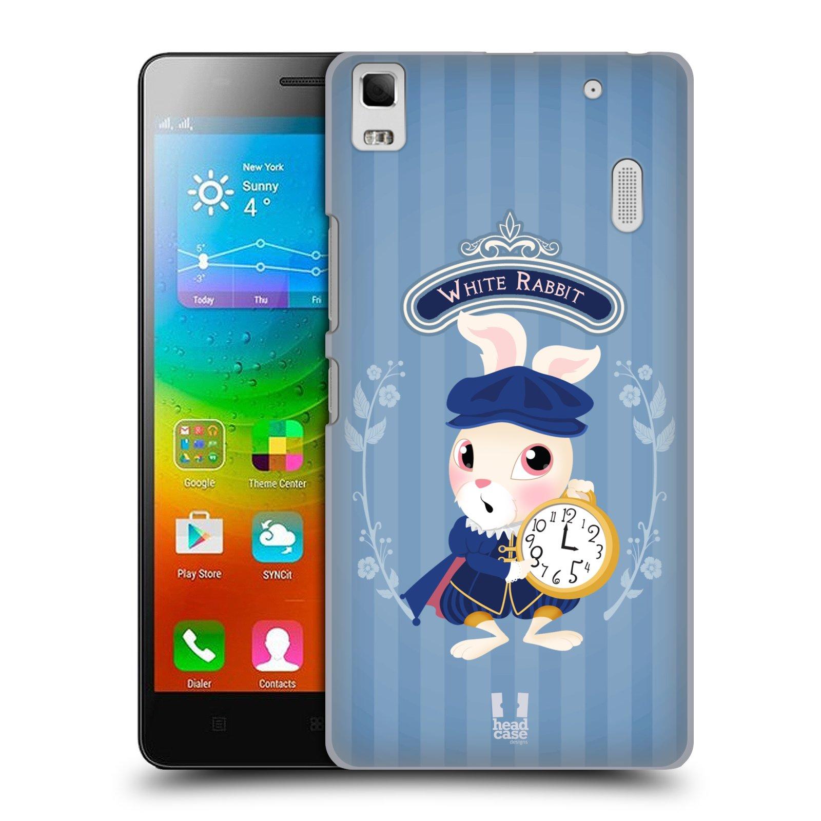 HEAD CASE pevný plastový obal na mobil LENOVO A7000 / A7000 DUAL / K3 NOTE vzor Alenka v říši divů králíček
