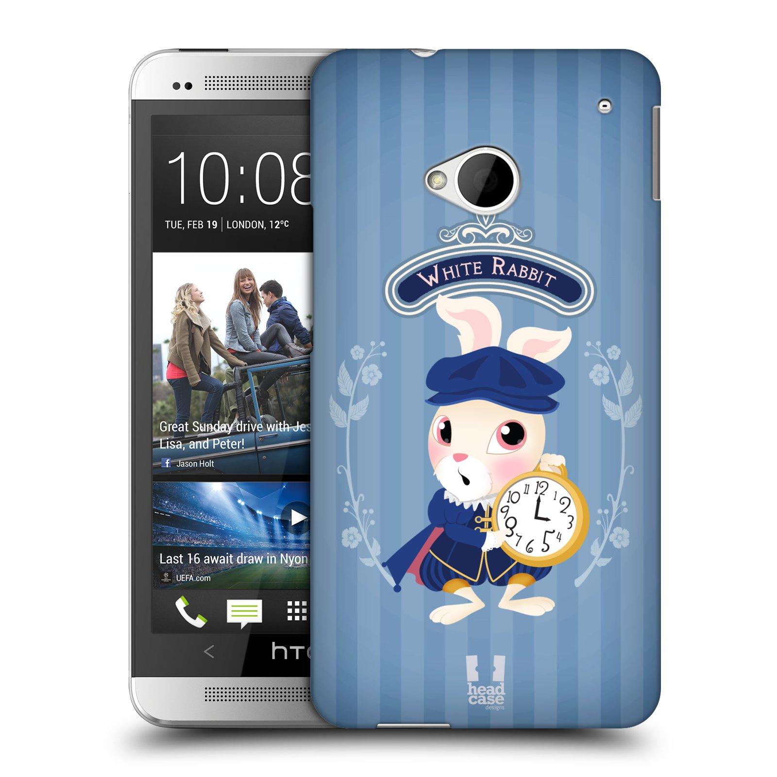 HEAD CASE plastový obal na mobil HTC One (M7) vzor Alenka v říši divů králíček