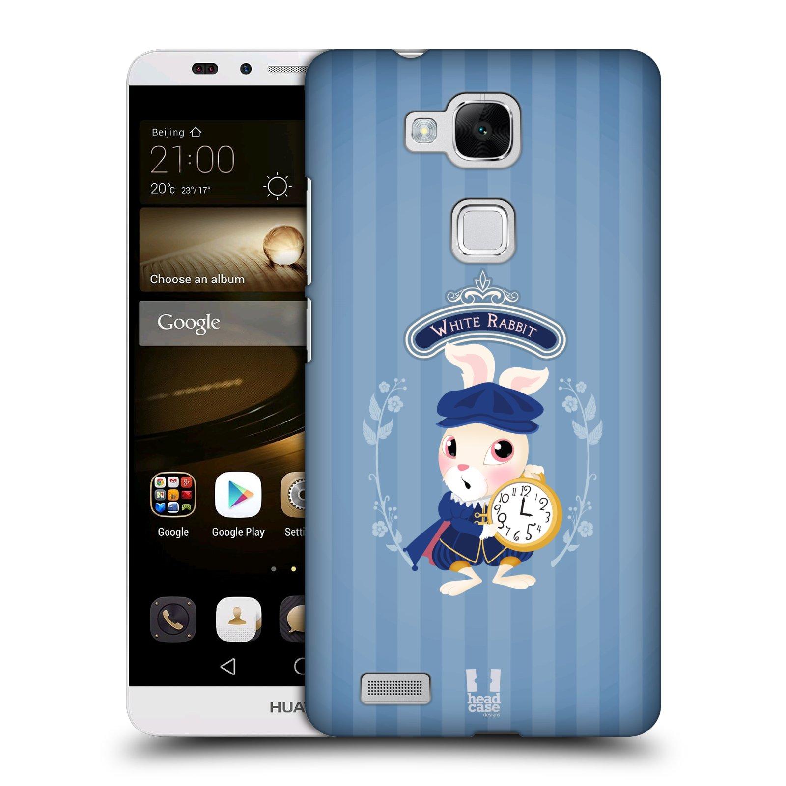 HEAD CASE plastový obal na mobil Huawei Mate 7 vzor Alenka v říši divů králíček