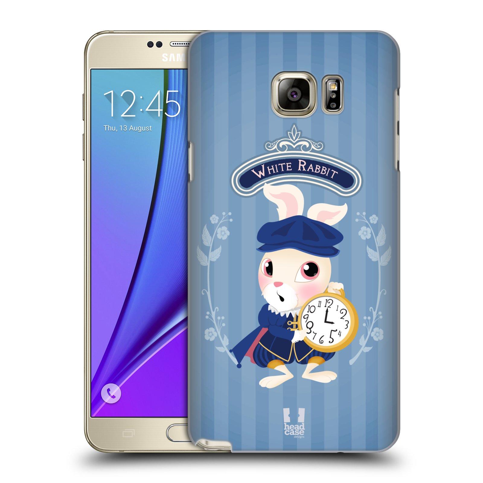 HEAD CASE plastový obal na mobil SAMSUNG Galaxy Note 5 (N920) vzor Alenka v říši divů králíček