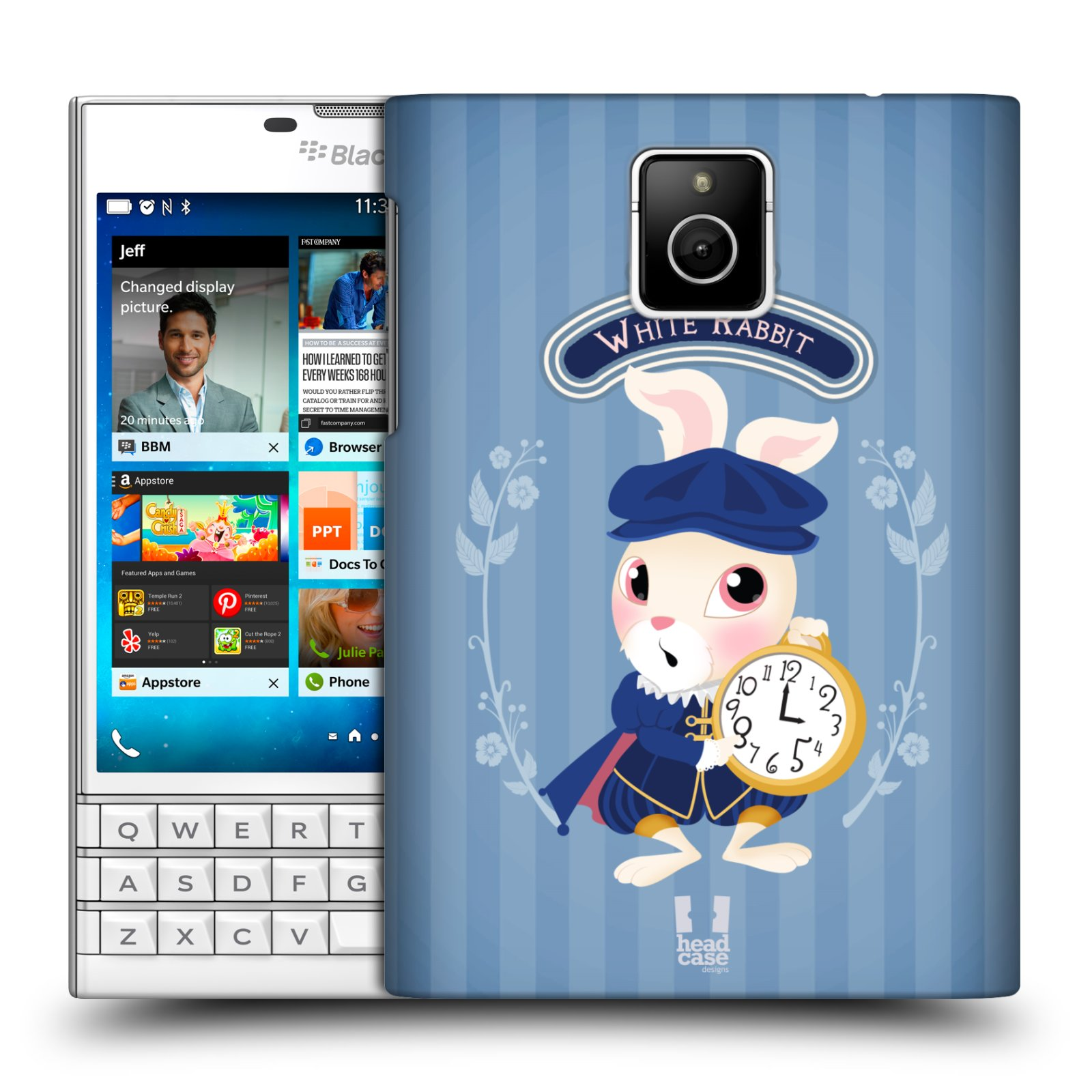 HEAD CASE plastový obal na mobil BlackBerry Passport vzor Alenka v říši divů králíček
