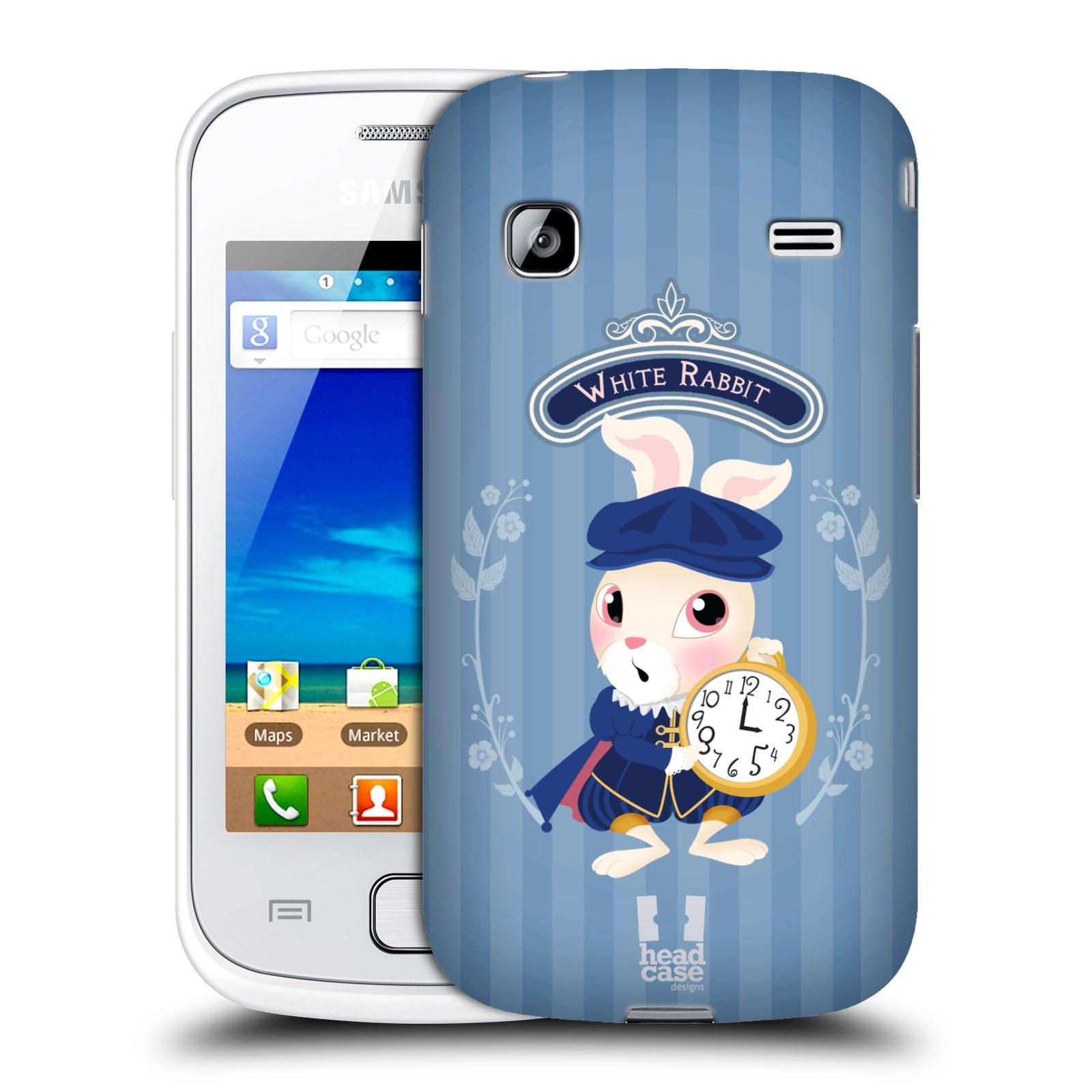 HEAD CASE plastový obal na mobil SAMSUNG GALAXY GIO (S5660) vzor Alenka v říši divů králíček