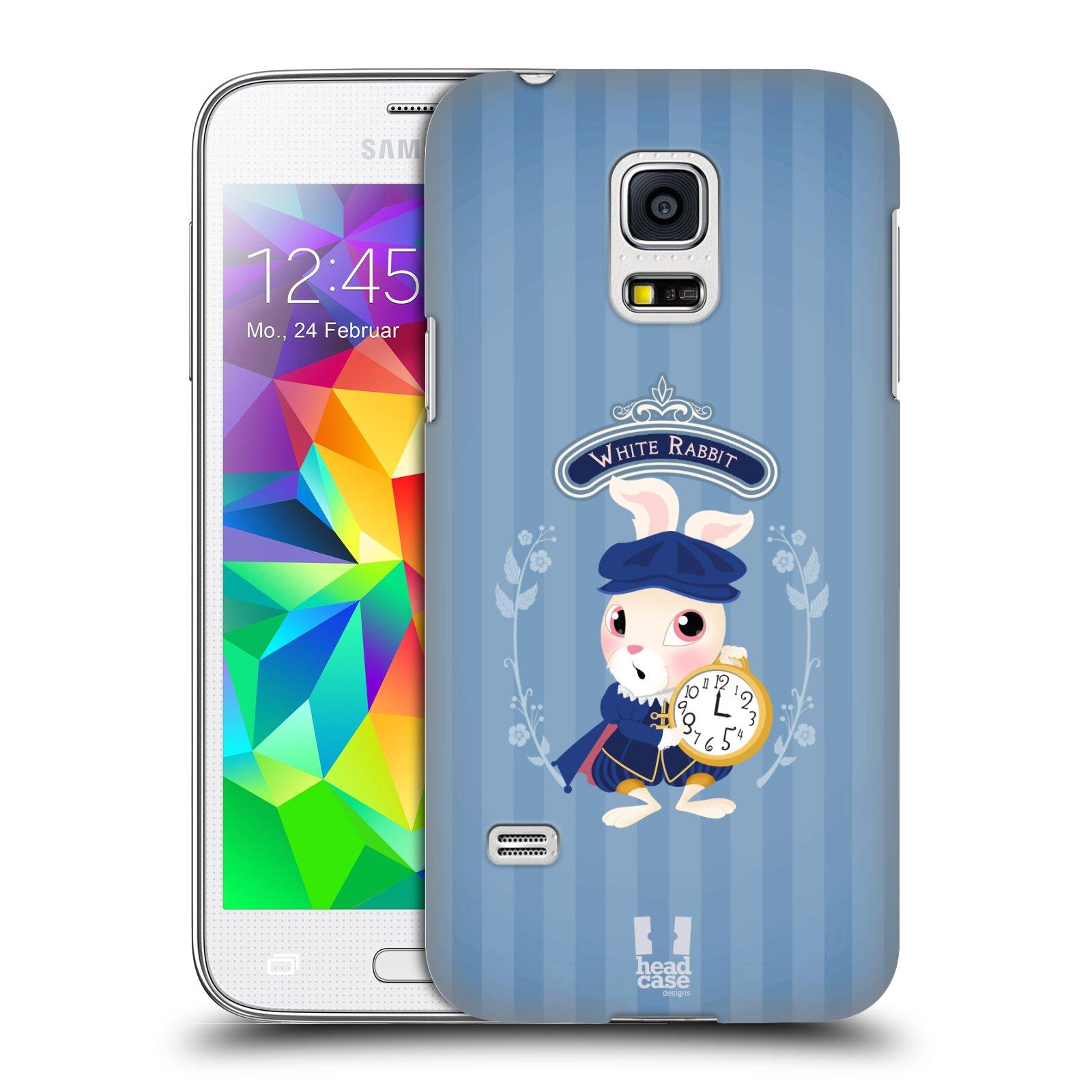 HEAD CASE plastový obal na mobil SAMSUNG Galaxy S5 MINI / S5 MINI DUOS vzor Alenka v říši divů králíček