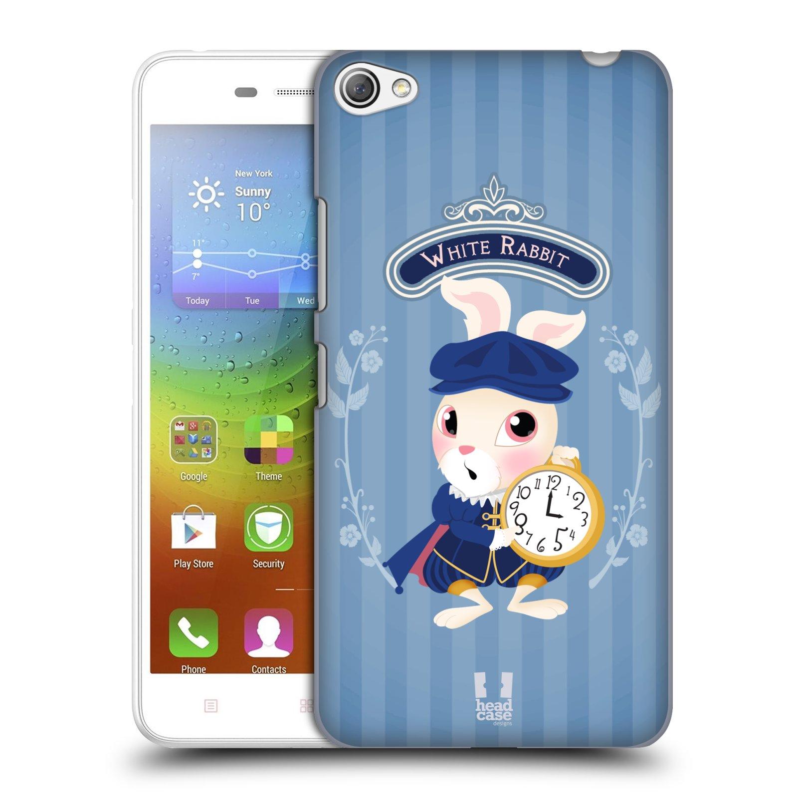 HEAD CASE pevný plastový obal na mobil LENOVO S60 / LENOVO S60 DUAL SIM vzor Alenka v říši divů králíček
