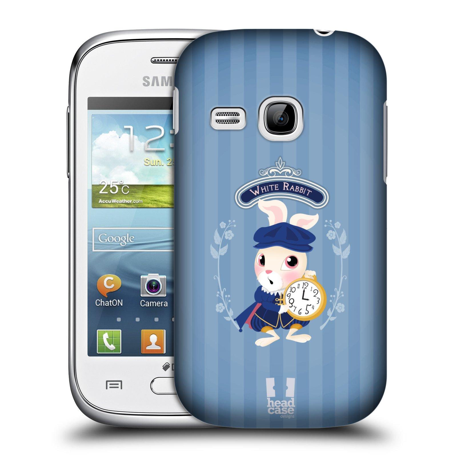 HEAD CASE plastový obal na mobil SAMSUNG Galaxy Young S6310 vzor Alenka v říši divů králíček