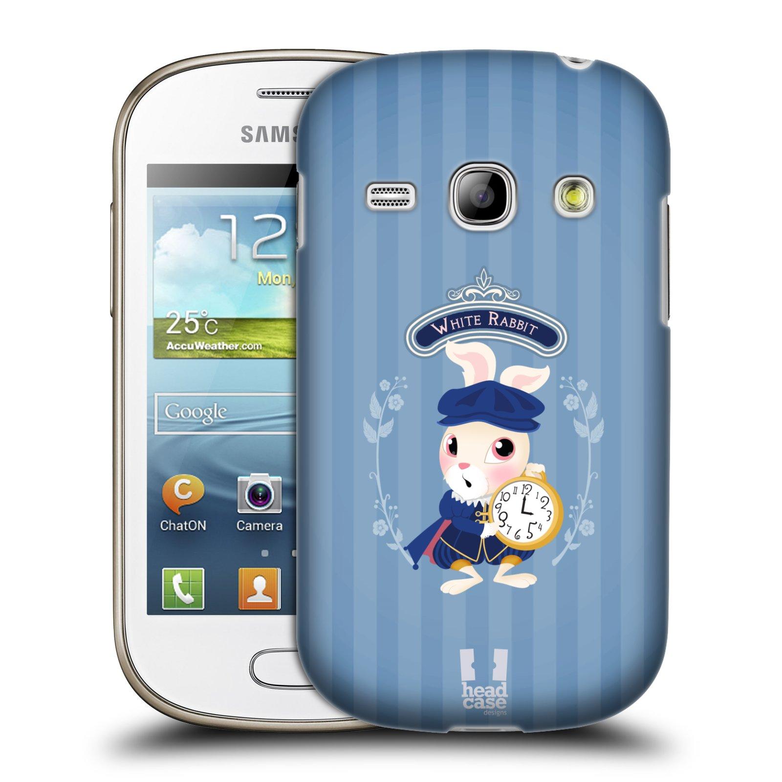 HEAD CASE plastový obal na mobil SAMSUNG GALAXY FAME (S6810) vzor Alenka v říši divů králíček
