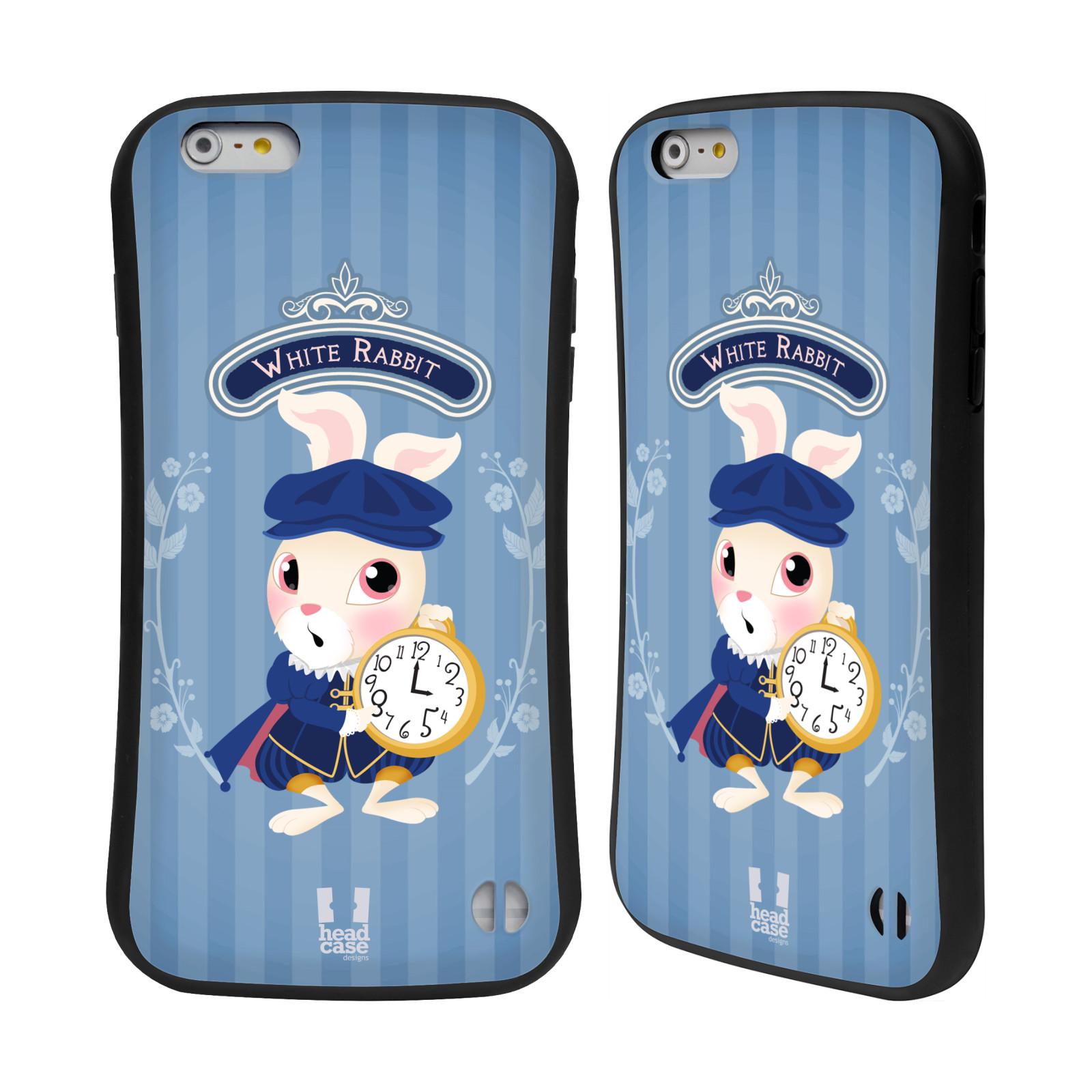 HEAD CASE silikon/plast odolný obal na mobil Apple Iphone 6 PLUS / 6S PLUS vzor Alenka v říši divů králíček