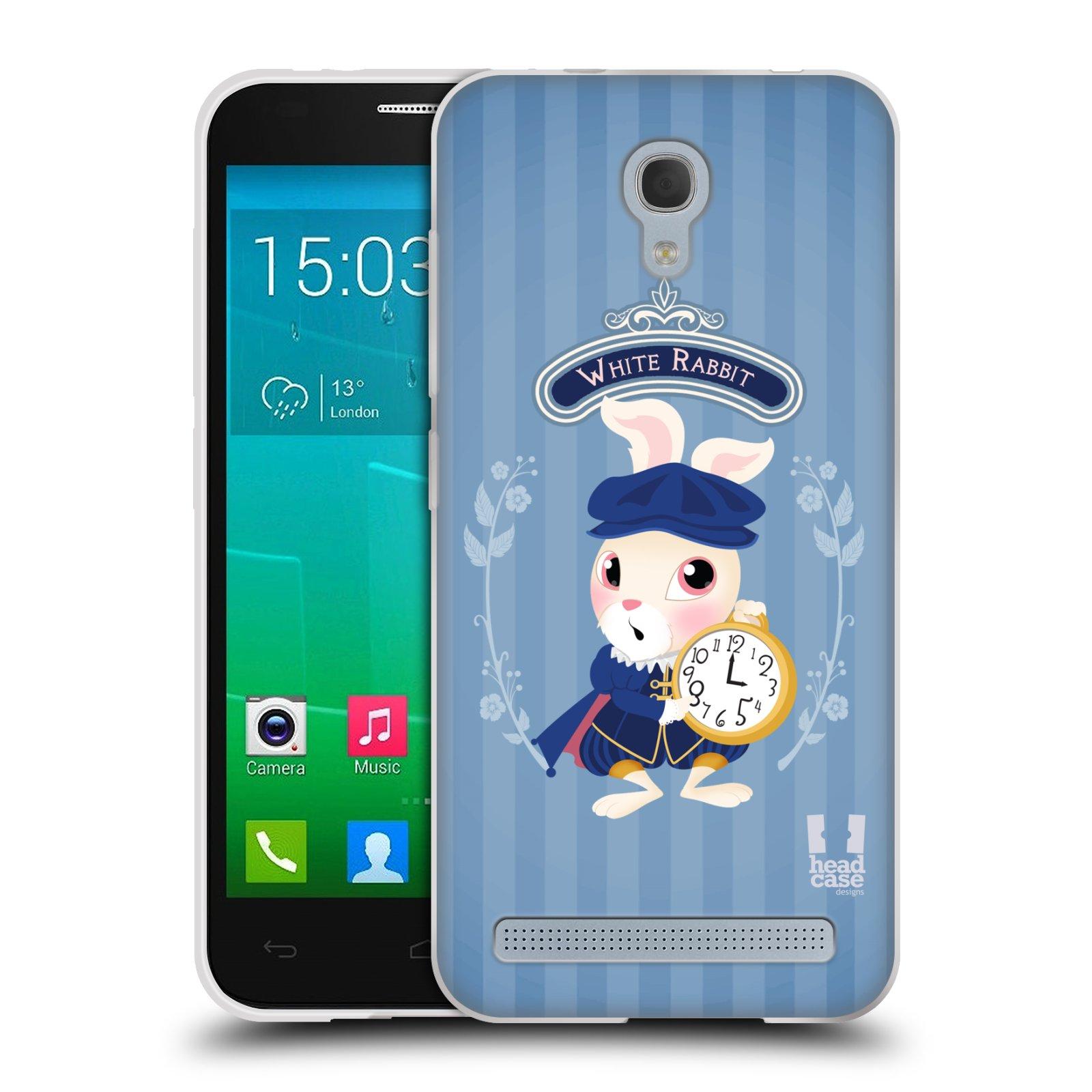 HEAD CASE silikonový obal na mobil Alcatel Idol 2 MINI S 6036Y vzor Alenka v říši divů králíček