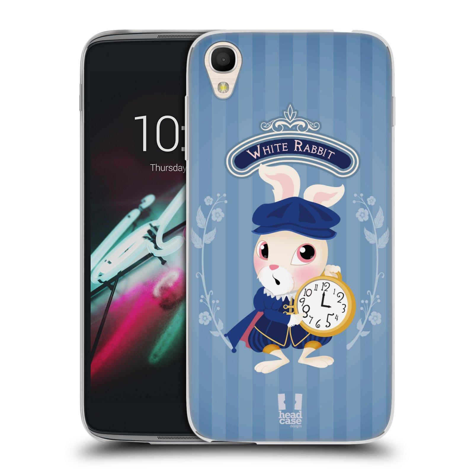 HEAD CASE silikonový obal na mobil Alcatel Idol 3 OT-6039Y (4.7) vzor Alenka v říši divů králíček