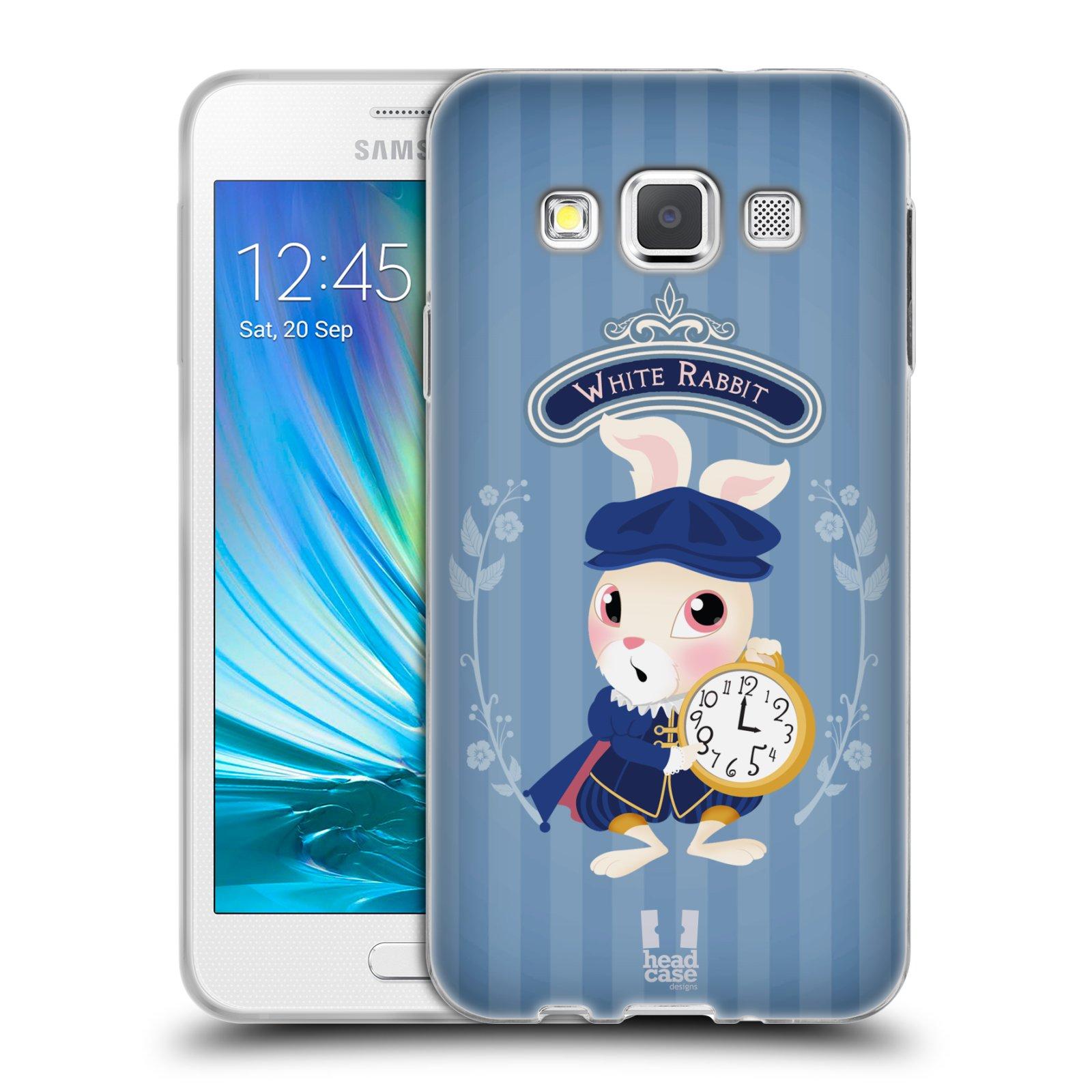 HEAD CASE silikonový obal na mobil Samsung Galaxy A3 vzor Alenka v říši divů králíček