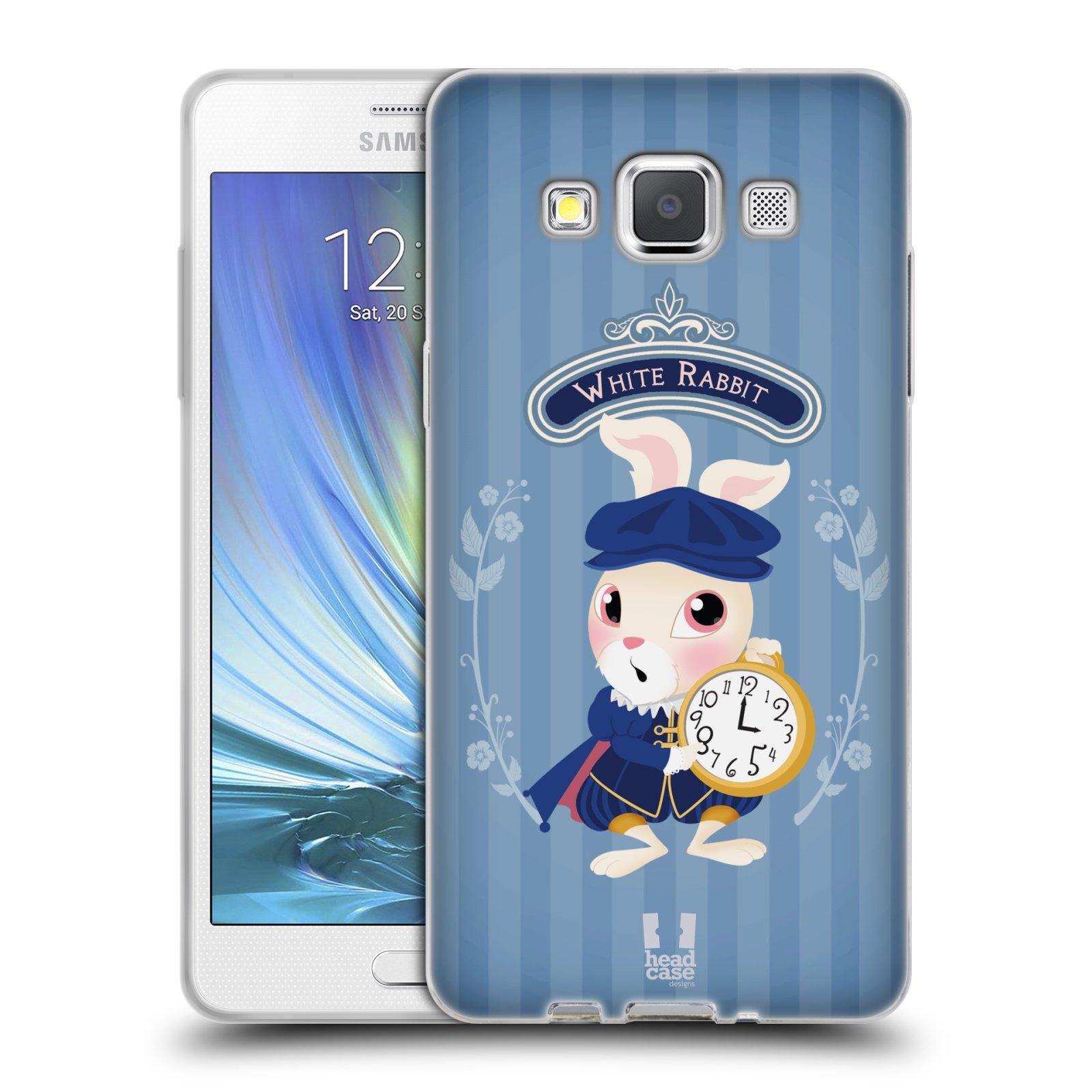HEAD CASE silikonový obal na mobil Samsung Galaxy A5 vzor Alenka v říši divů králíček