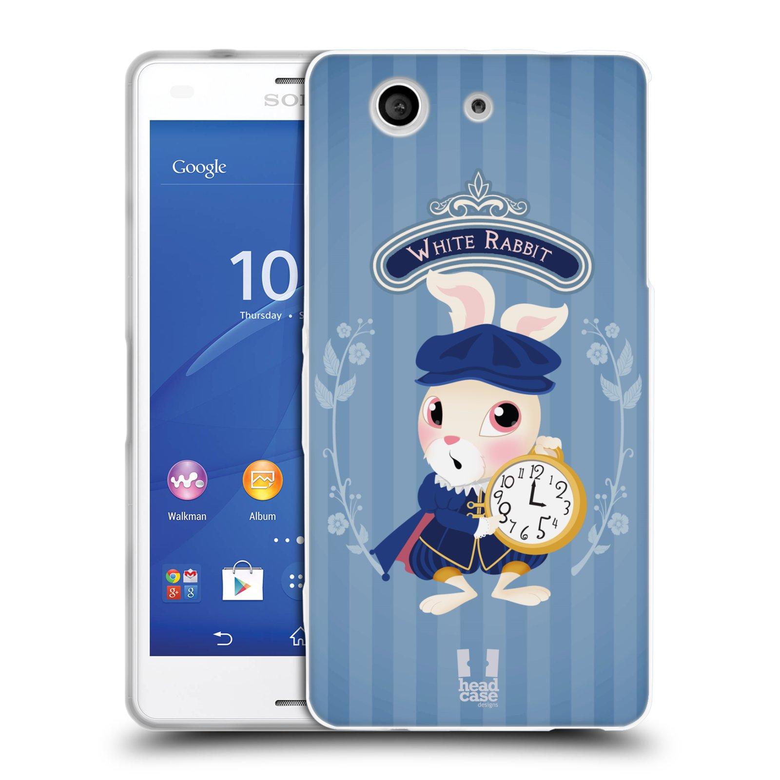HEAD CASE silikonový obal na mobil Sony Xperia Z3 COMPACT (D5803) vzor Alenka v říši divů králíček