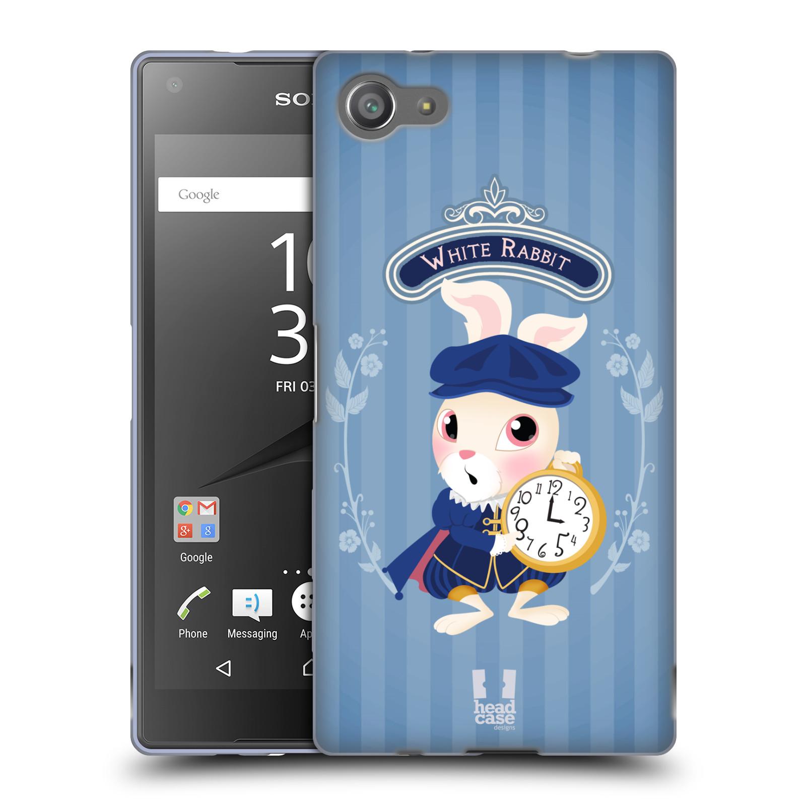 HEAD CASE silikonový obal na mobil Sony Xperia Z5 COMPACT vzor Alenka v říši divů králíček