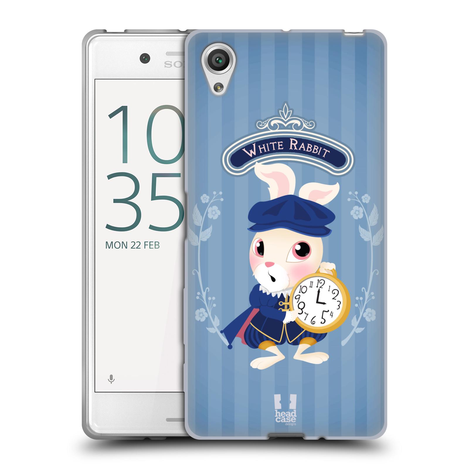 HEAD CASE silikonový obal na mobil Sony Xperia X / X DUAL vzor Alenka v říši divů králíček