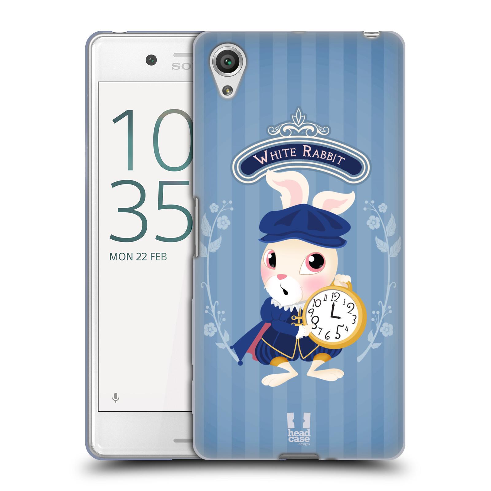 HEAD CASE silikonový obal na mobil Sony Xperia X PERFORMANCE (F8131, F8132) vzor Alenka v říši divů králíček