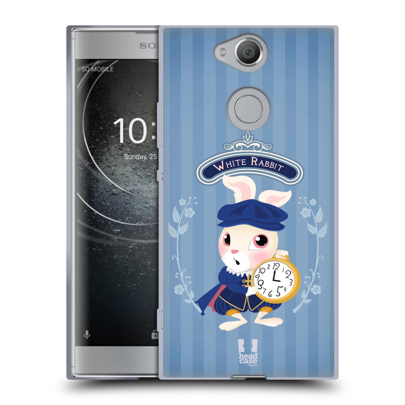 Pouzdro na mobil Sony Xperia XA2 (DUAL SIM, SINGLE SIM) vzor Alenka v říši divů králíček