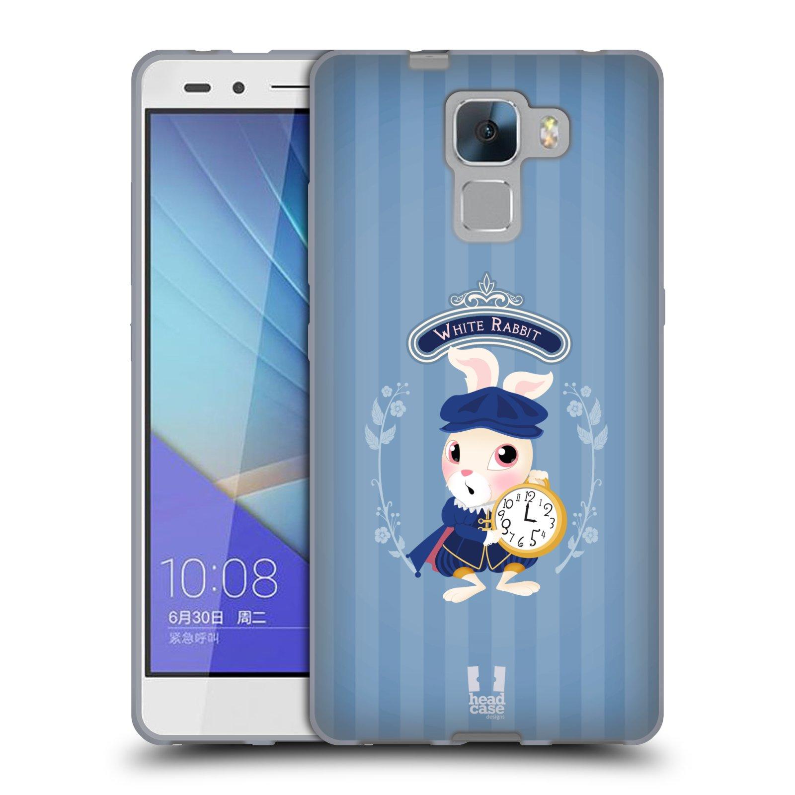 HEAD CASE silikonový obal na mobil HUAWEI HONOR 7 vzor Alenka v říši divů králíček