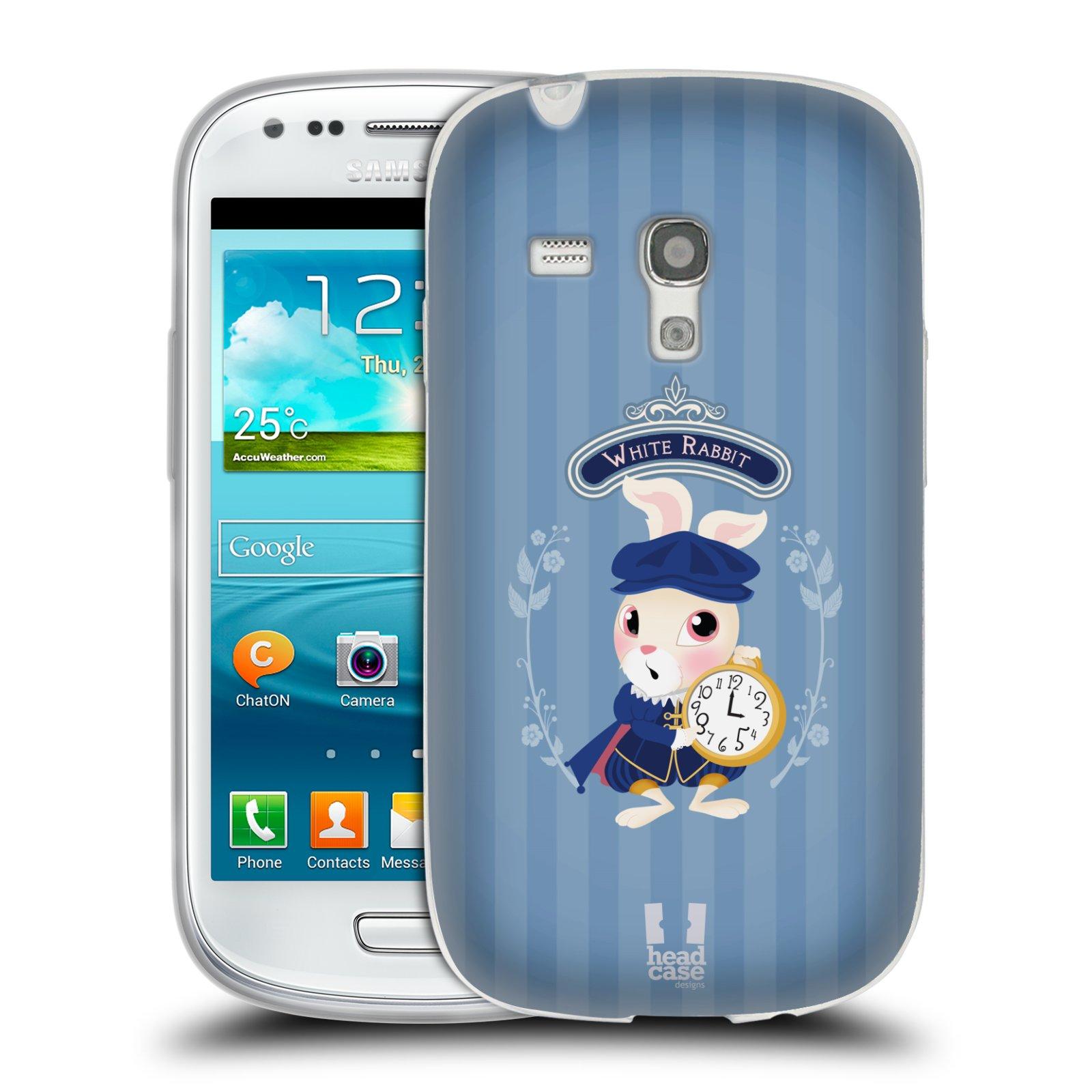 HEAD CASE silikonový obal na mobil Samsung Galaxy S3 MINI i8190 vzor Alenka v říši divů králíček