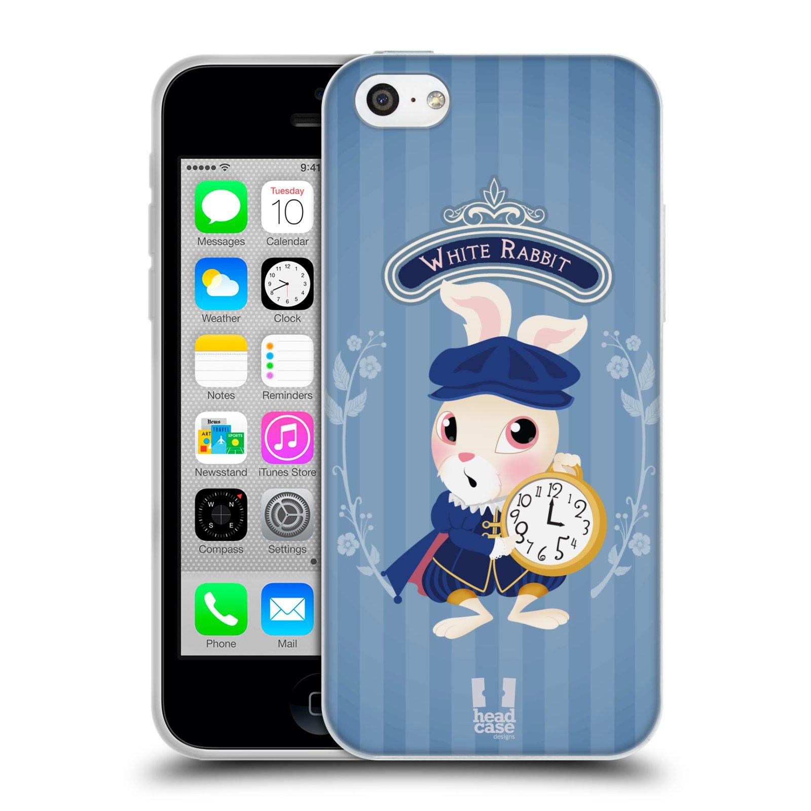 HEAD CASE silikonový obal na mobil Apple Iphone 5C vzor Alenka v říši divů králíček