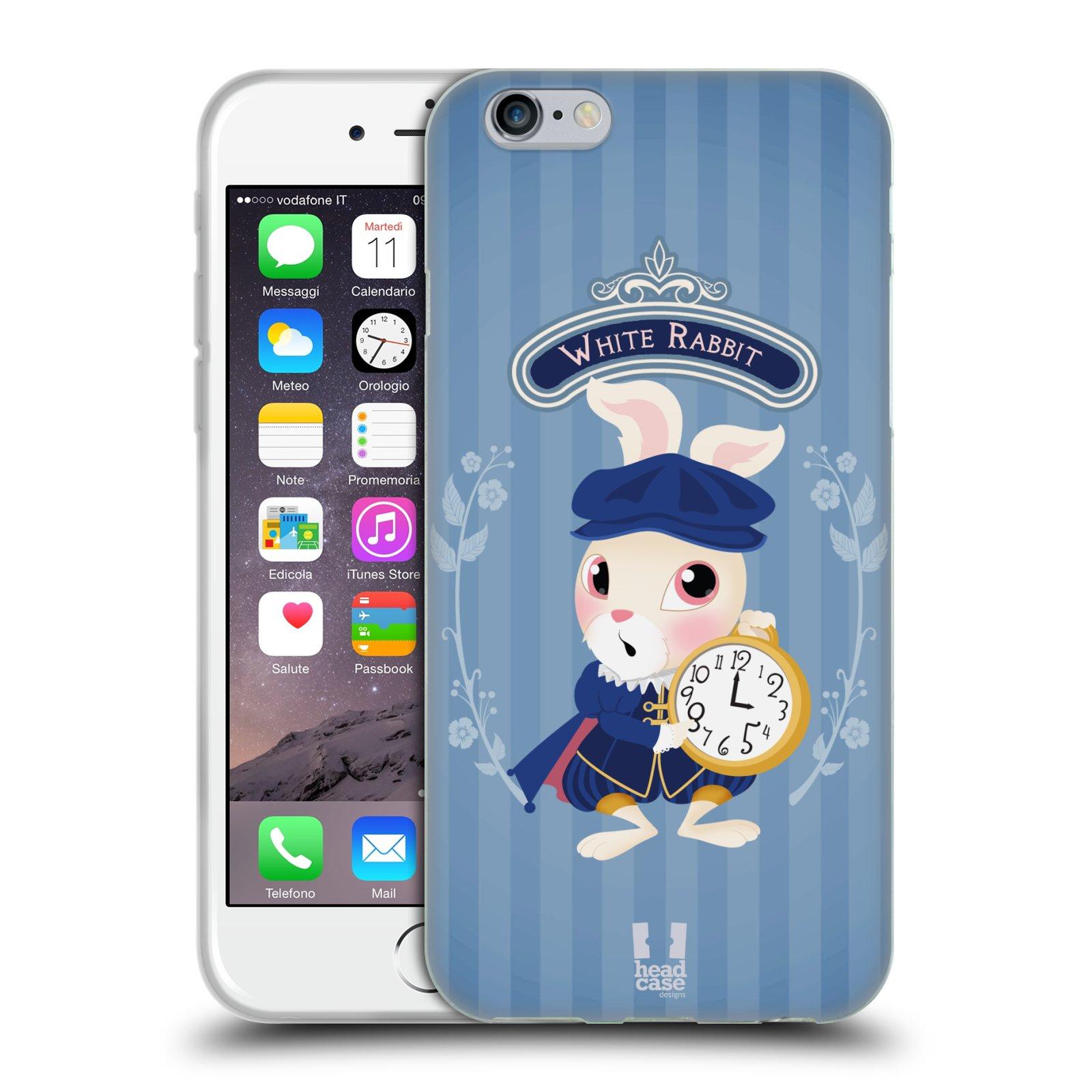 HEAD CASE silikonový obal na mobil Apple Iphone 6/6S vzor Alenka v říši divů králíček