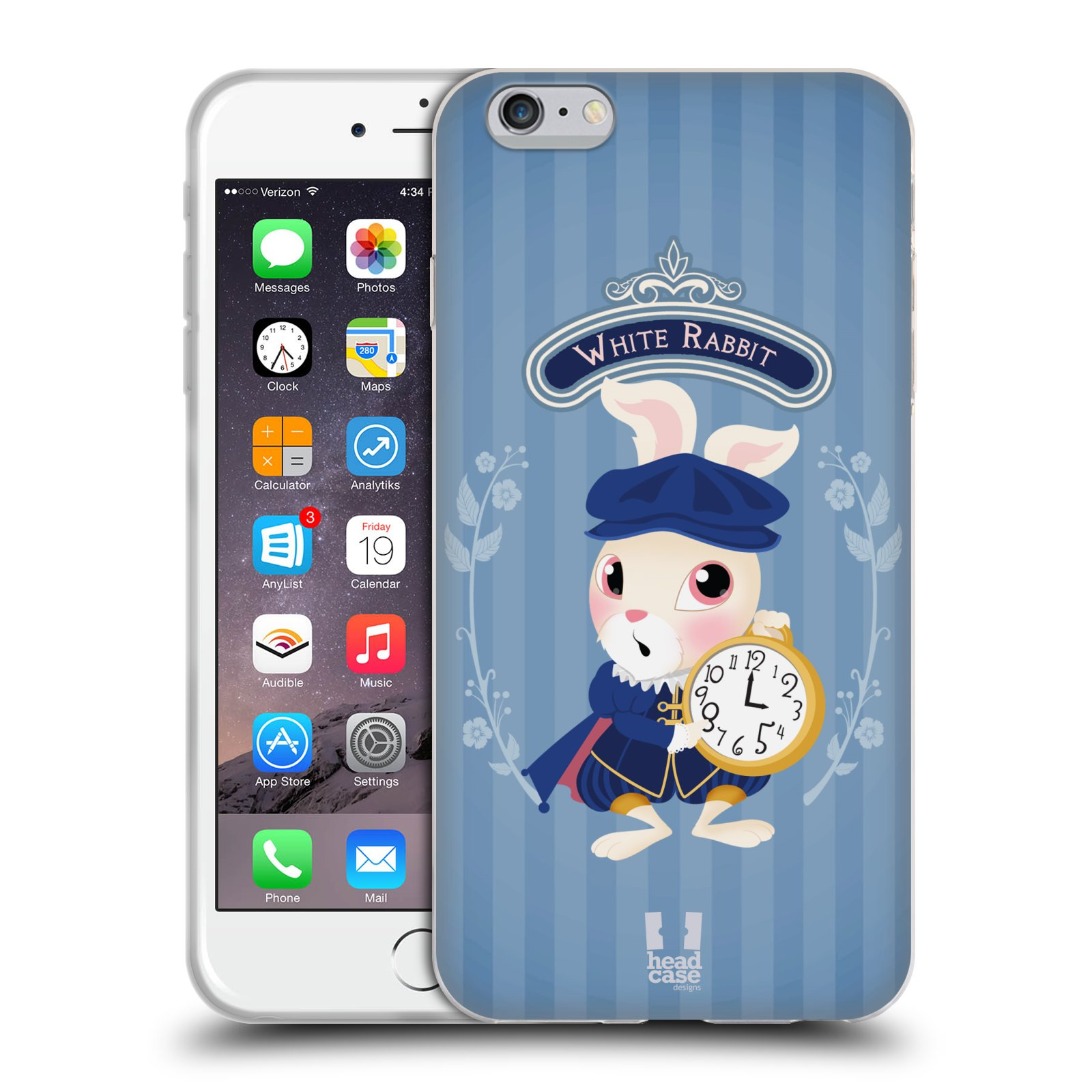 HEAD CASE silikonový obal na mobil Apple Iphone 6 PLUS/ 6S PLUS vzor Alenka v říši divů králíček