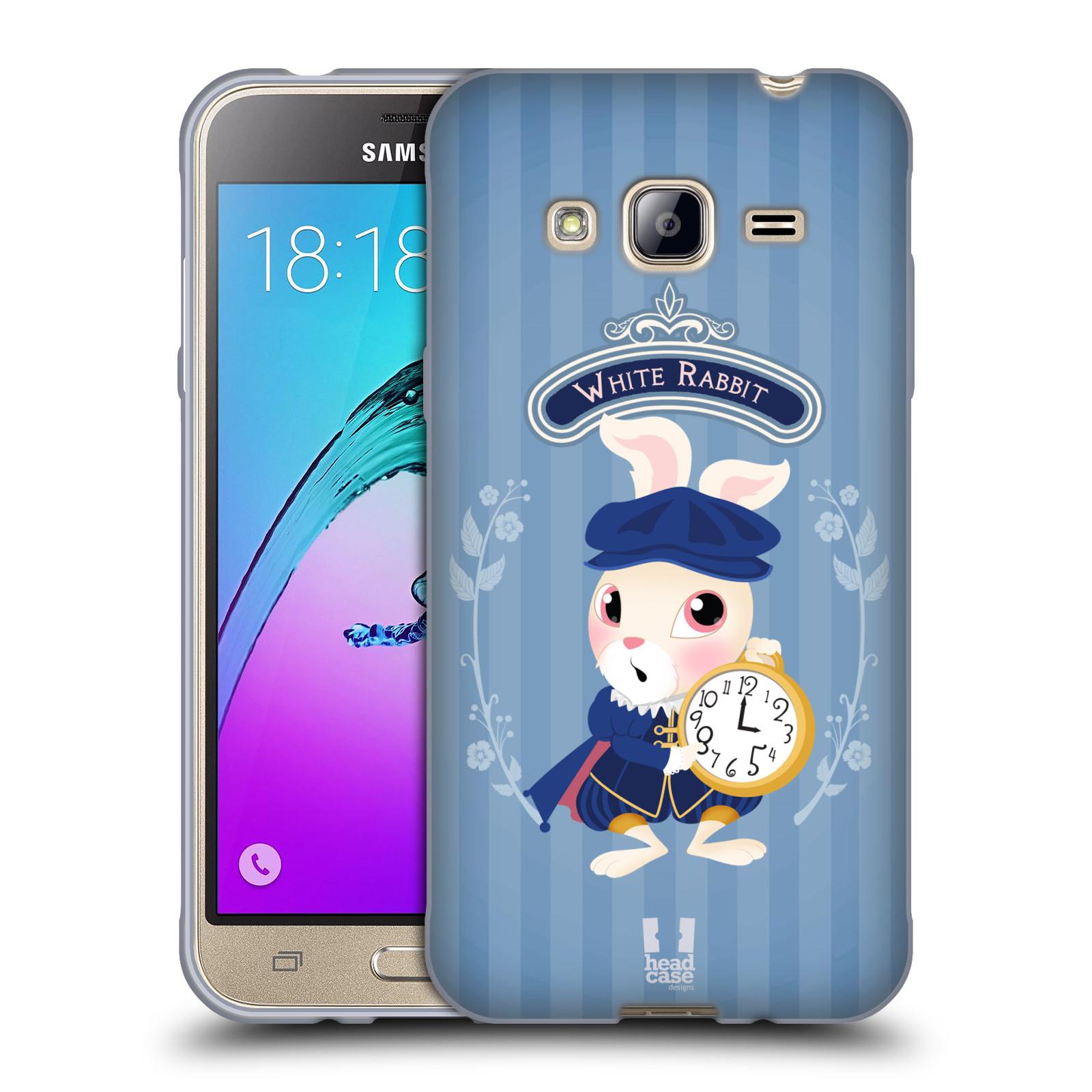HEAD CASE silikonový obal na mobil Samsung Galaxy J3, J3 2016 vzor Alenka v říši divů králíček