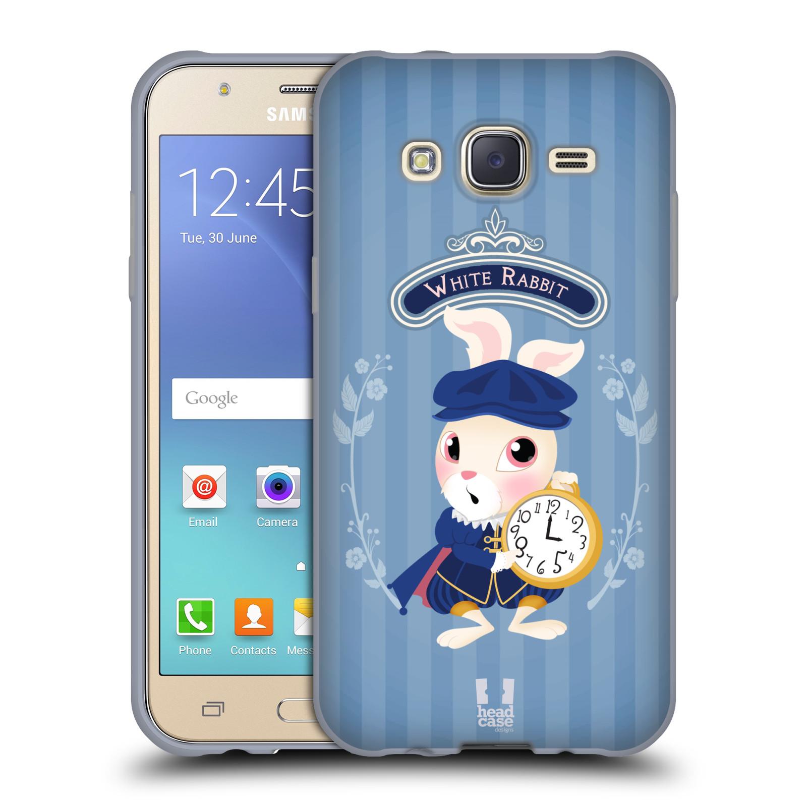 HEAD CASE silikonový obal na mobil Samsung Galaxy J5, J500, (J5 DUOS) vzor Alenka v říši divů králíček