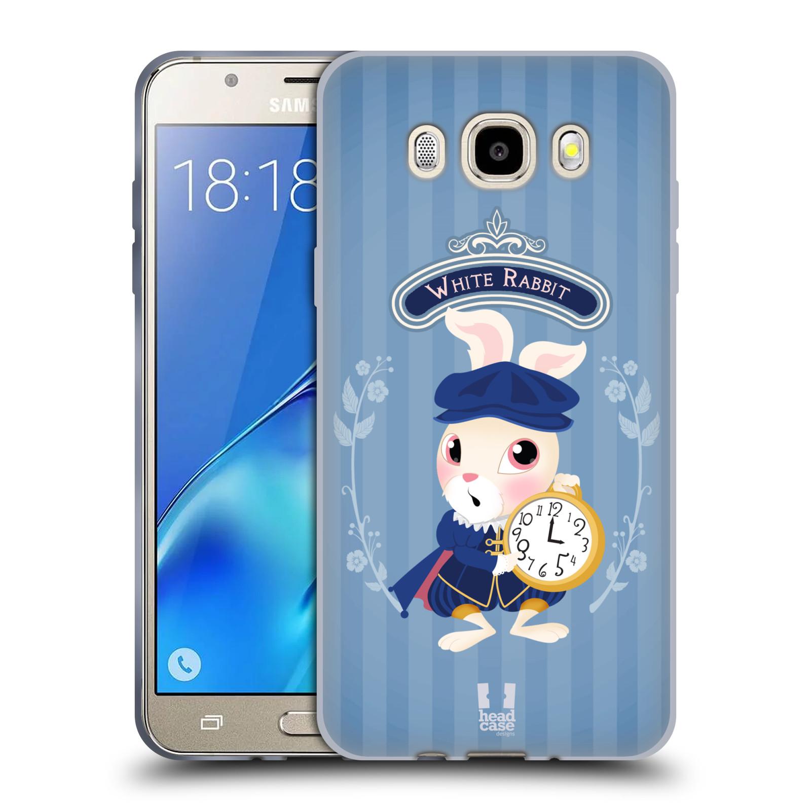HEAD CASE silikonový obal, kryt na mobil Samsung Galaxy J5 2016, J510, J510F, (J510F DUAL SIM) vzor Alenka v říši divů králíček