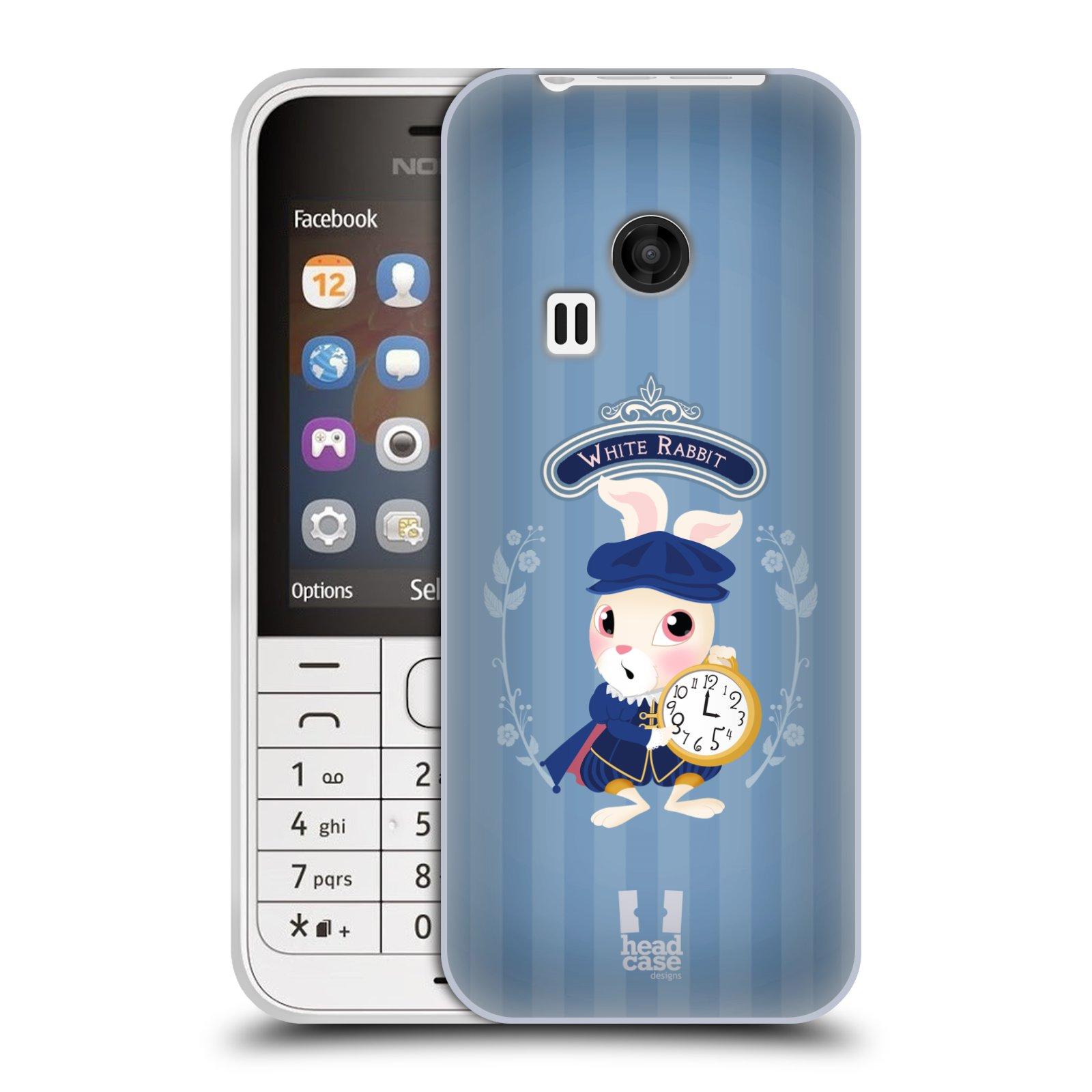 HEAD CASE silikonový obal na mobil NOKIA 220 / NOKIA 220 DUAL SIM vzor Alenka v říši divů králíček
