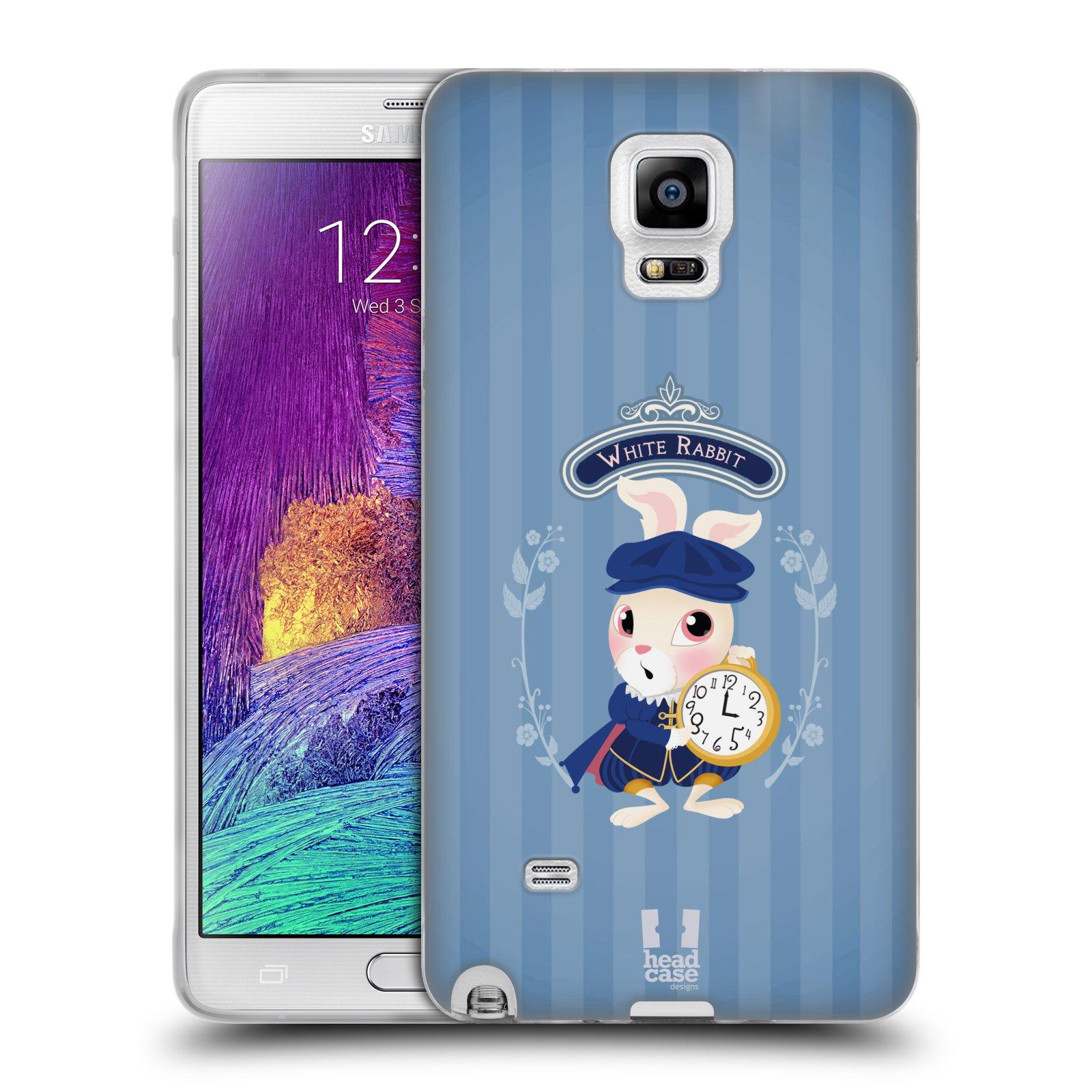 HEAD CASE silikonový obal na mobil Samsung Galaxy Note 4 (N910) vzor Alenka v říši divů králíček