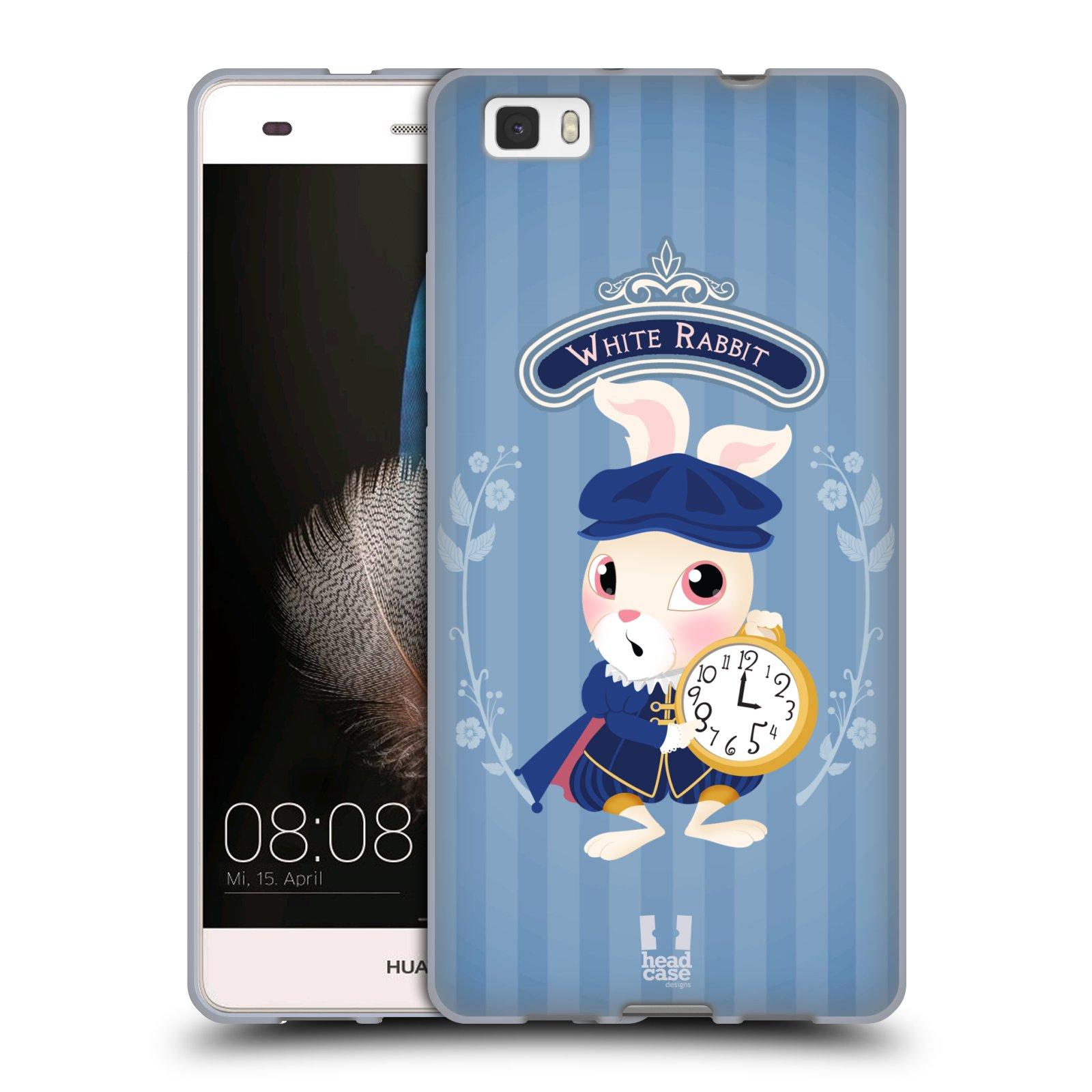 HEAD CASE silikonový obal na mobil HUAWEI P8 LITE vzor Alenka v říši divů králíček