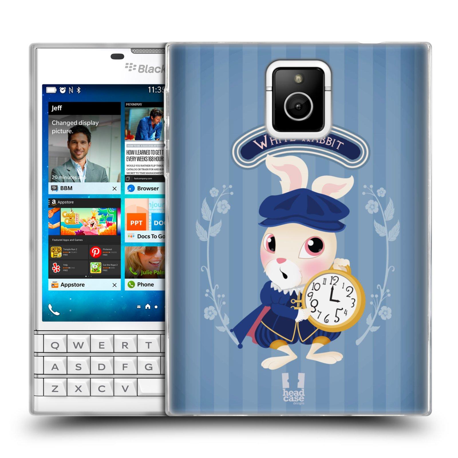 HEAD CASE silikonový obal na mobil Blackberry PASSPORT vzor Alenka v říši divů králíček