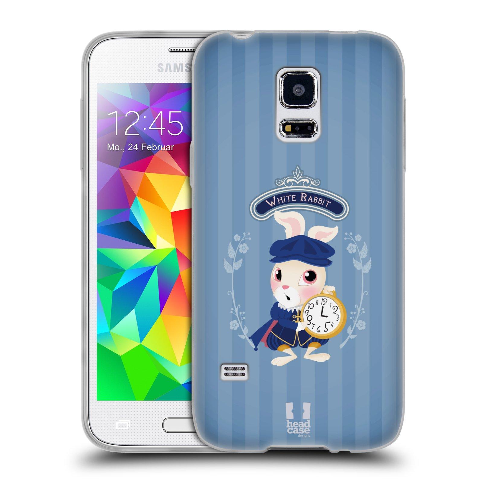 HEAD CASE silikonový obal na mobil Samsung Galaxy S5 MINI vzor Alenka v říši divů králíček