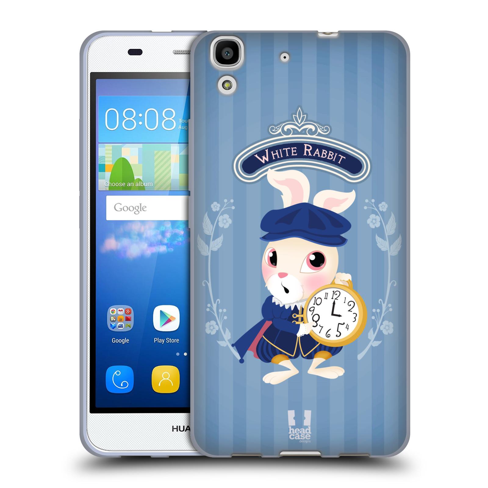 HEAD CASE silikonový obal na mobil HUAWEI Y6 vzor Alenka v říši divů králíček
