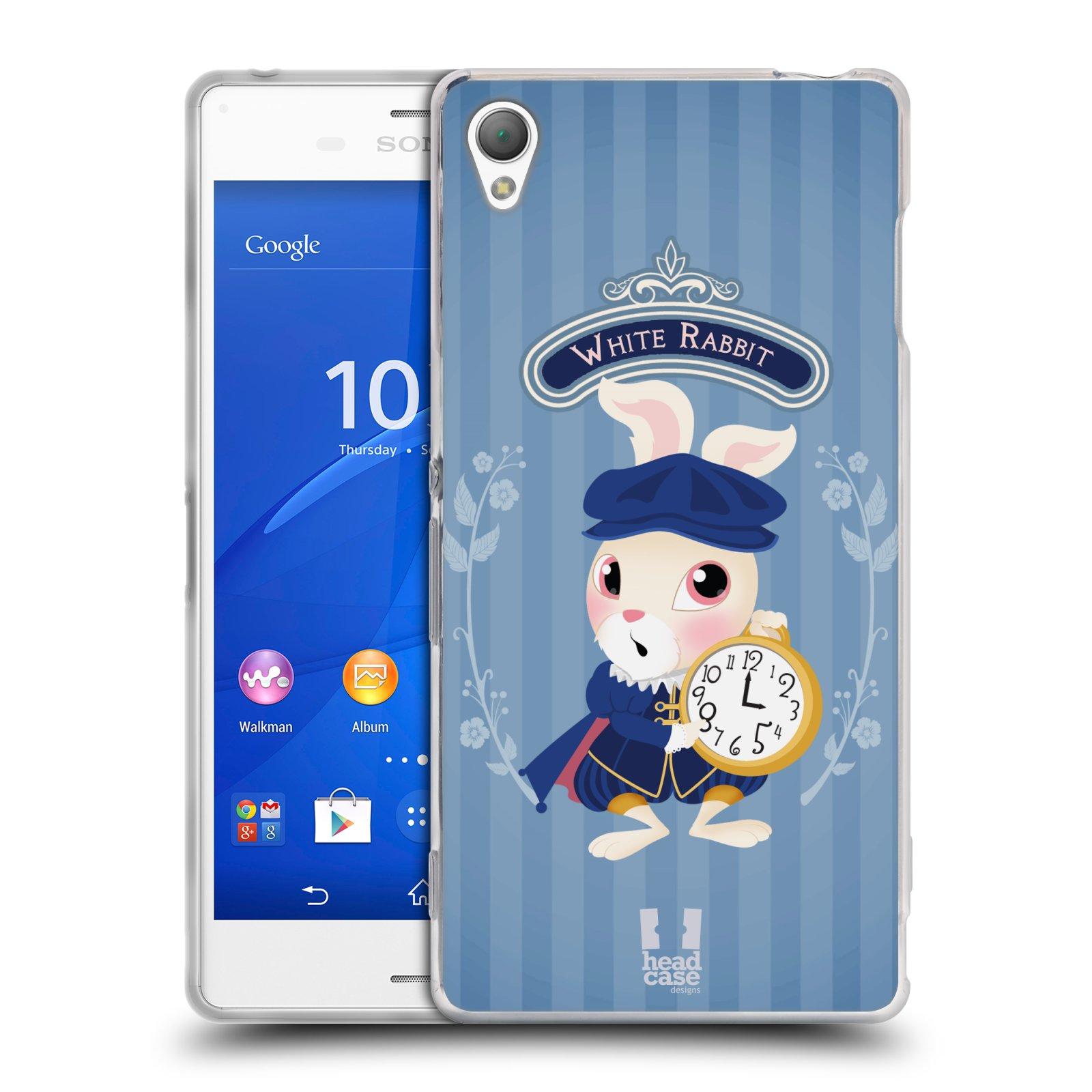 HEAD CASE silikonový obal na mobil Sony Xperia Z3 vzor Alenka v říši divů králíček