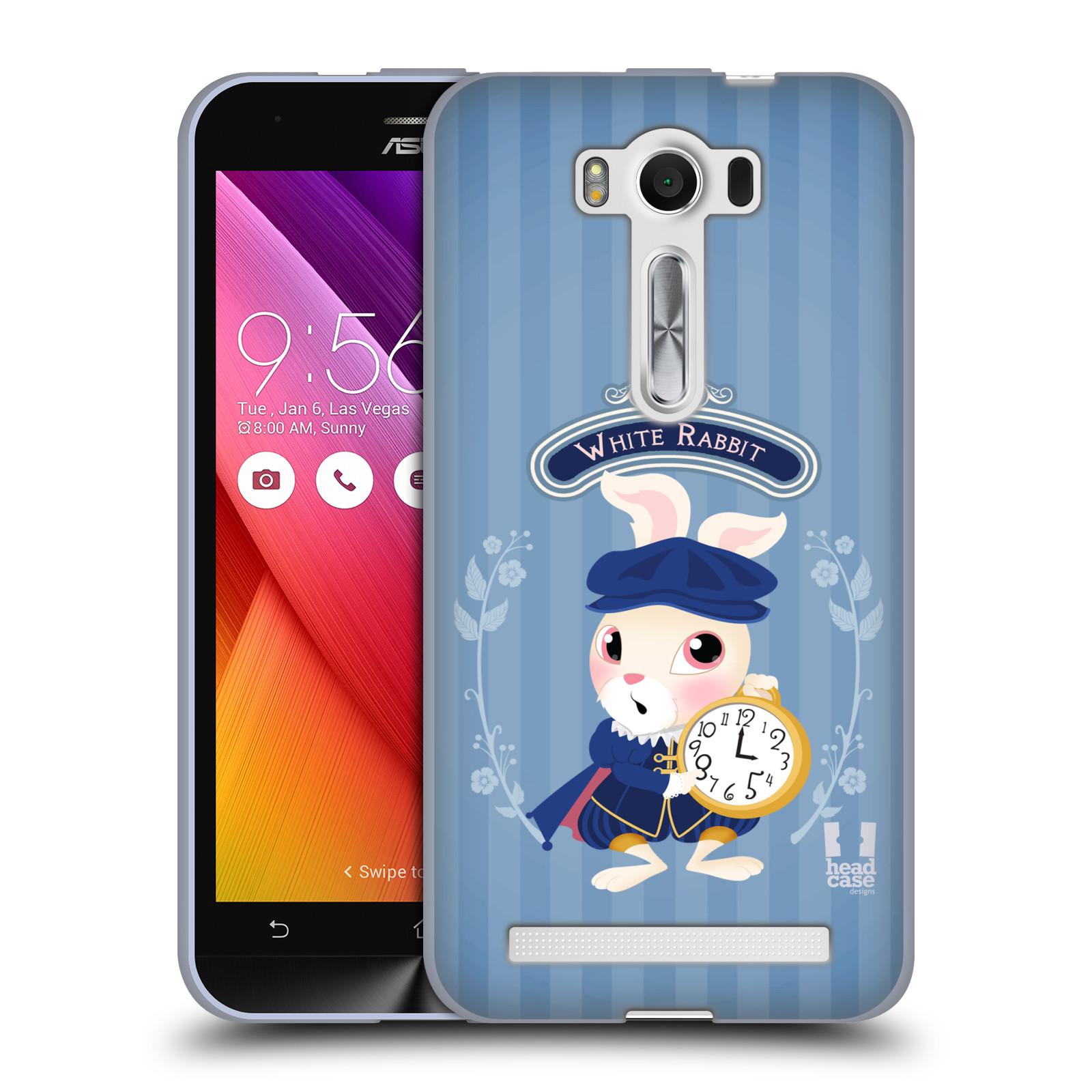 """HEAD CASE silikonový obal na mobil Asus Zenfone 2 LASER (ZE500KL s 5"""" displejem) vzor Alenka v říši divů králíček"""